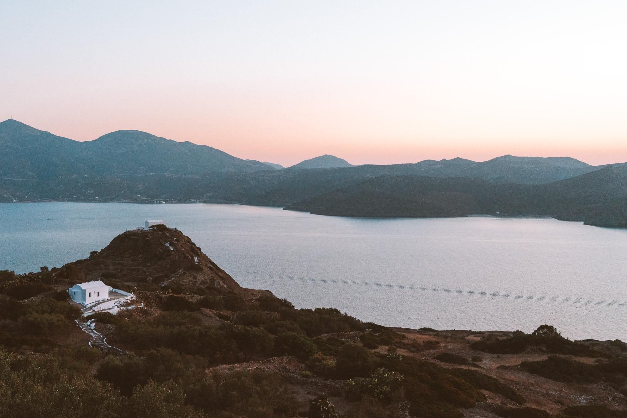 Rooftop sunset, Milos Greece Travel Guide via Find Us Lost