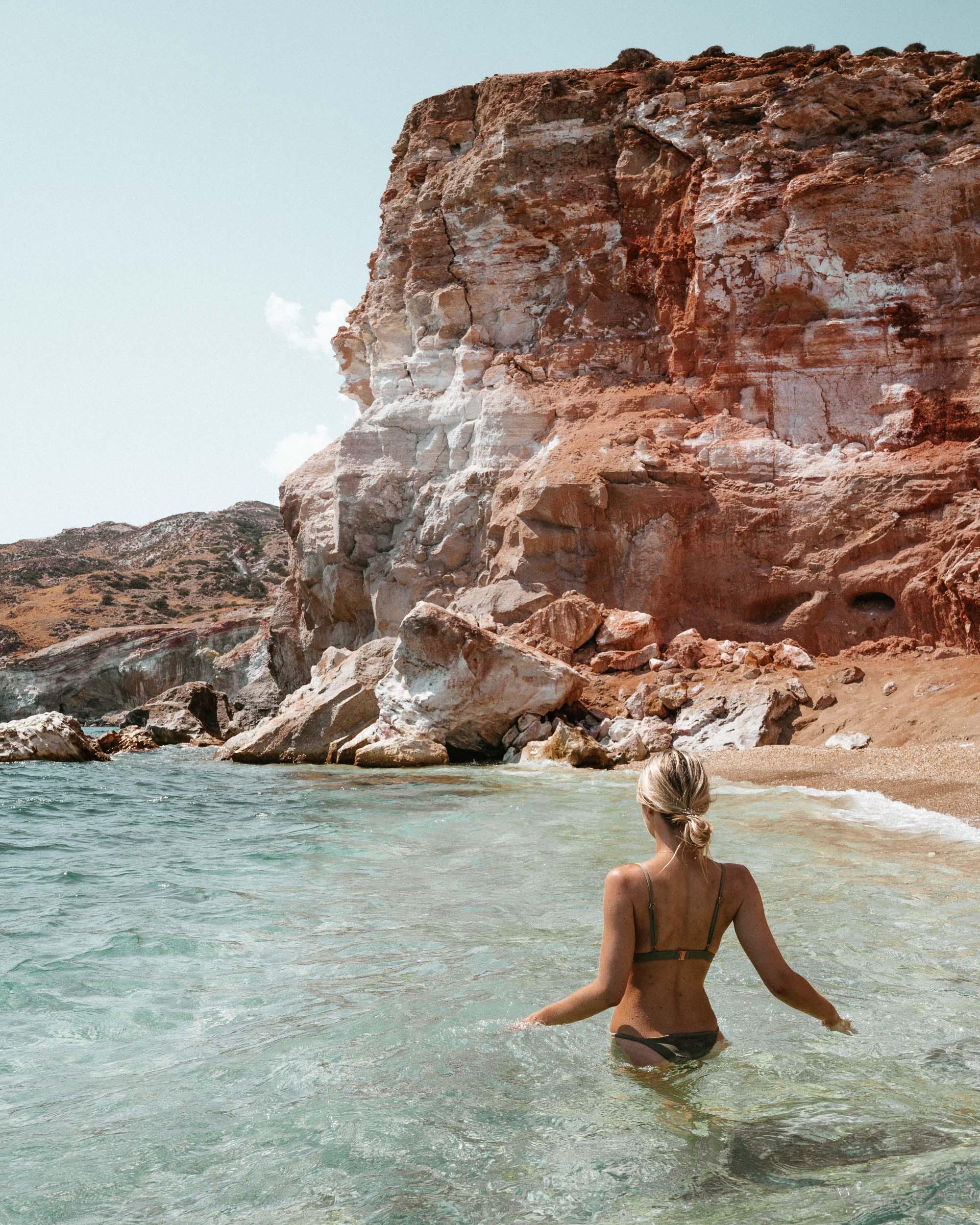 Paliochori Beach, Milos Greece Travel Guide via Find Us Lost