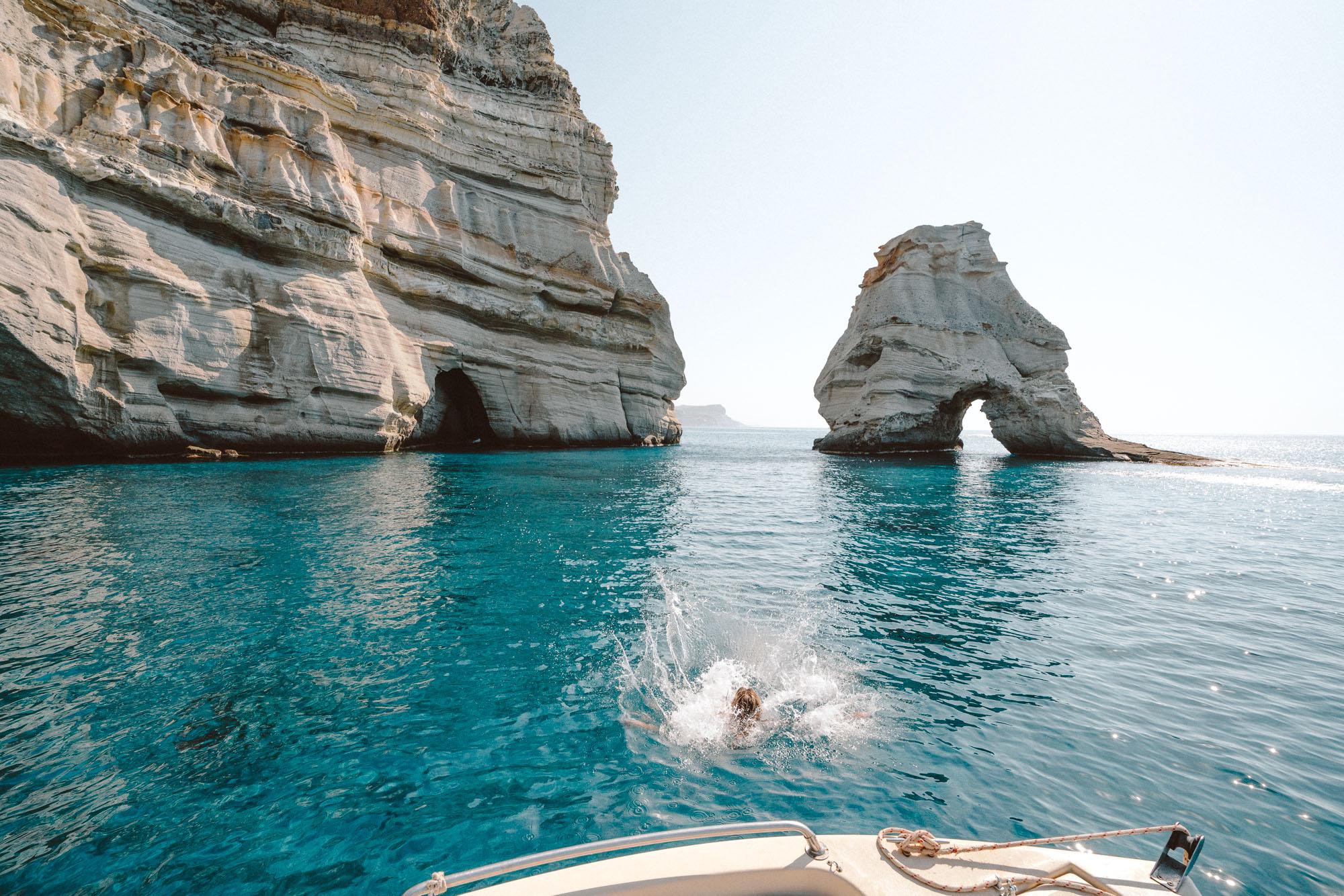 Kleftiko Caves, Milos Greece Travel Guide via Find Us Lost