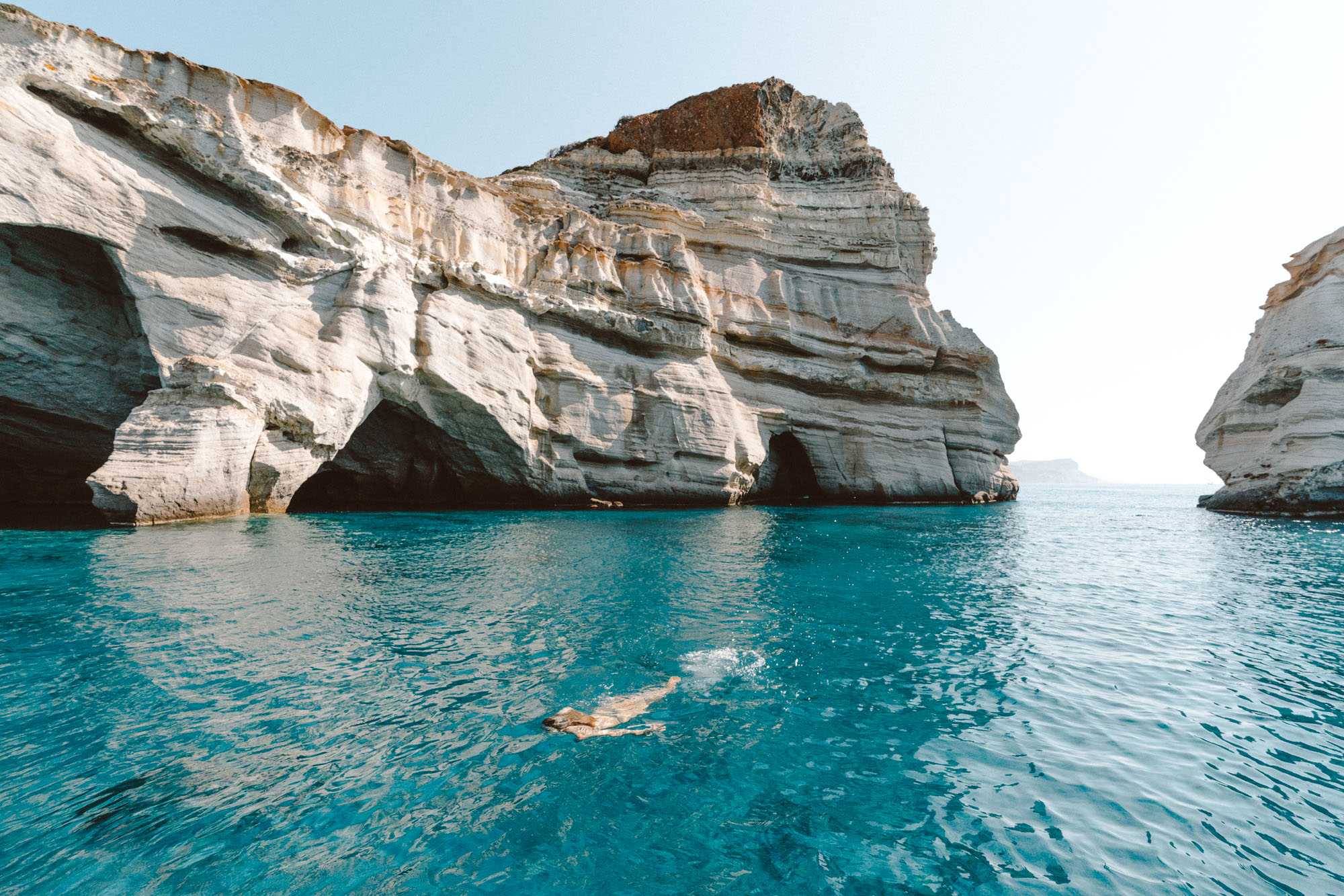 Kleftiko Caves, Milos Greece Travel Guide via Find Us Lost