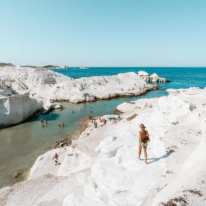 Sarakiniko Beach, Milos Greece Travel Guide via Find Us Lost