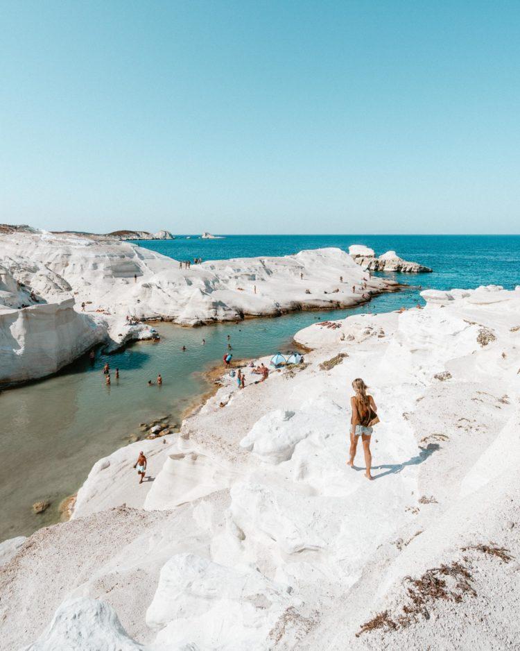 Sarakiniko Beach, Milos Greece Travel Guide via Find Us Lost