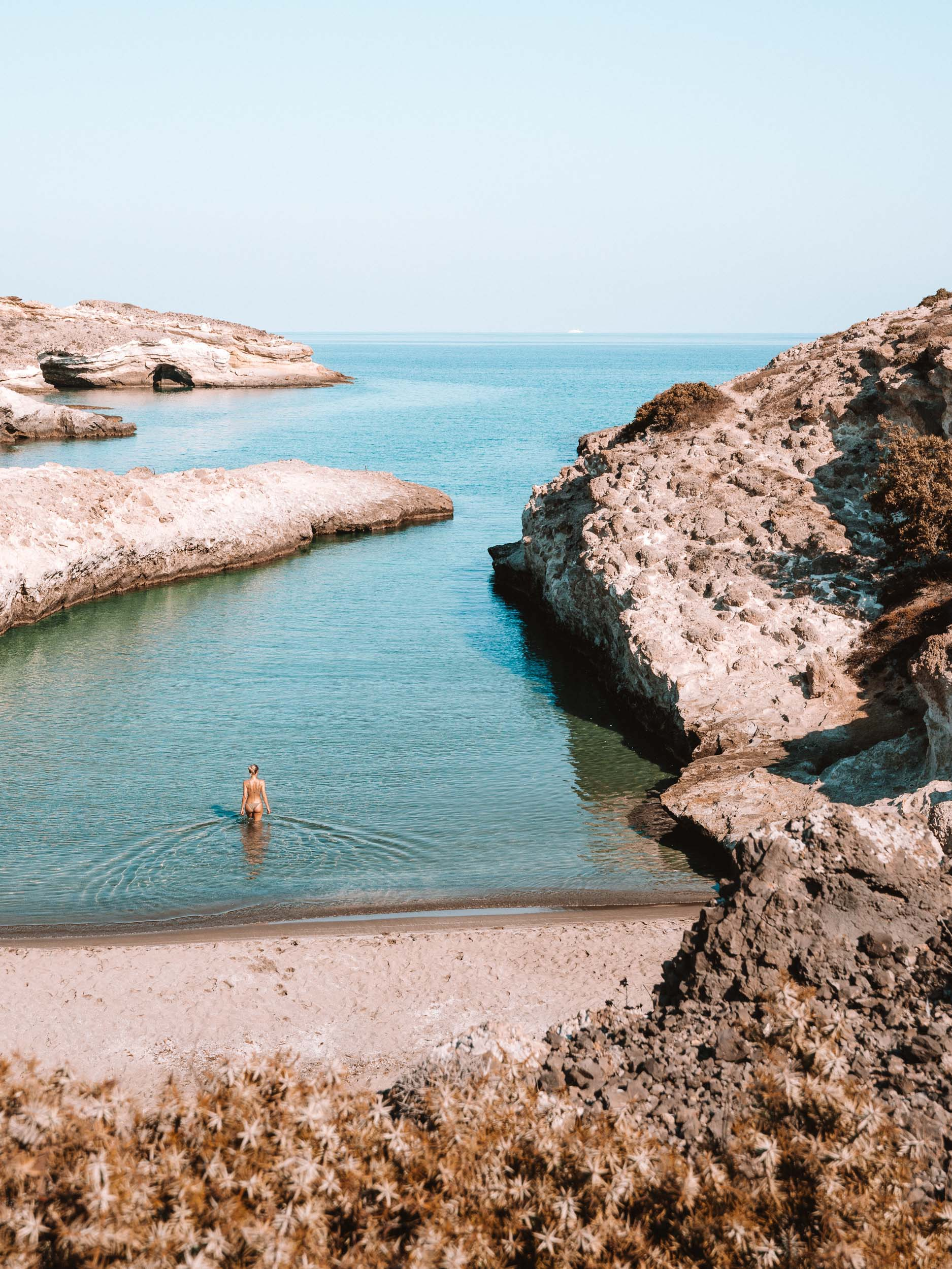 Papafragas Beach, Milos Greece Travel Guide via Find Us Lost