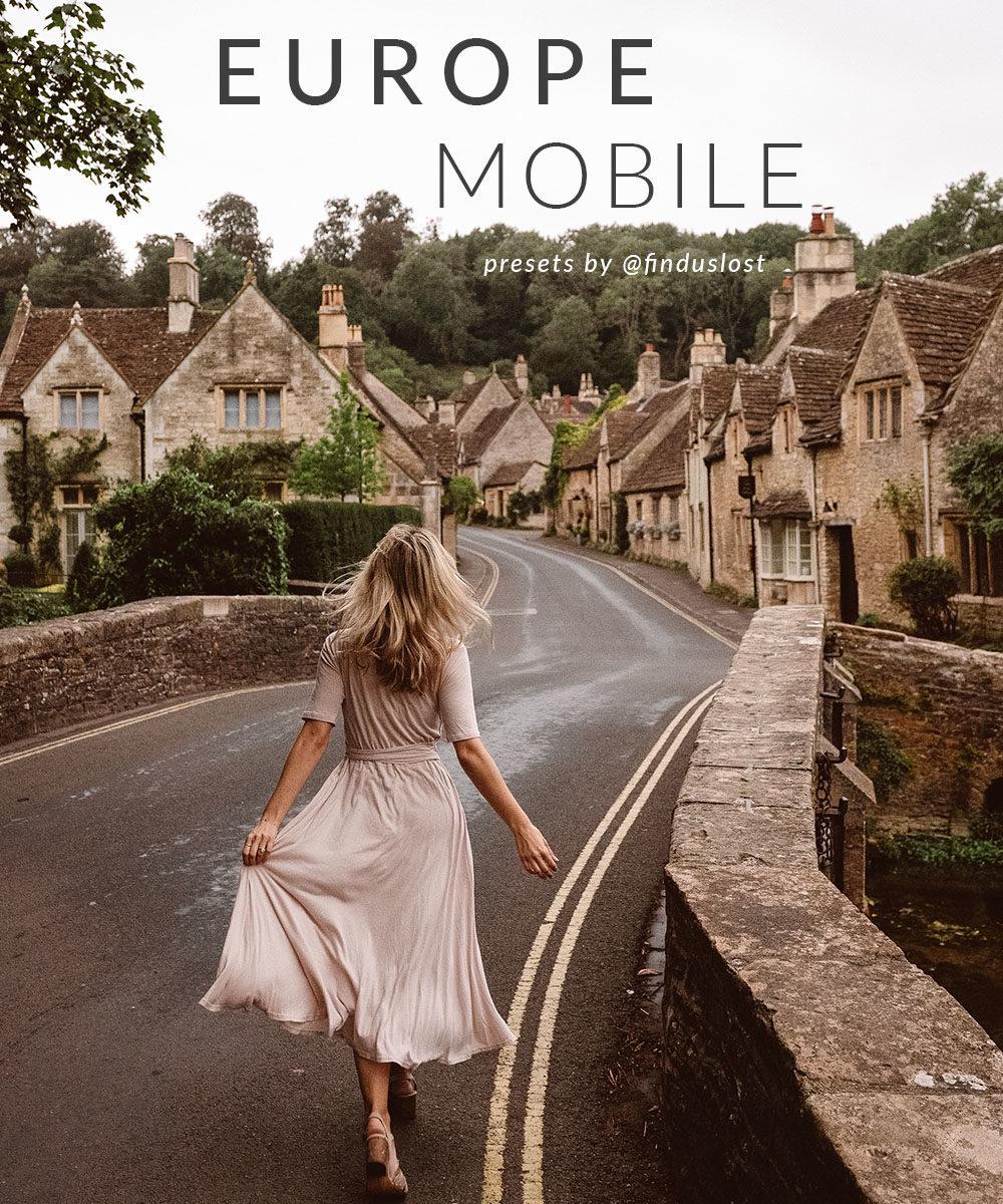 Find Us Lost Europe Lightroom Mobile Preset Collection