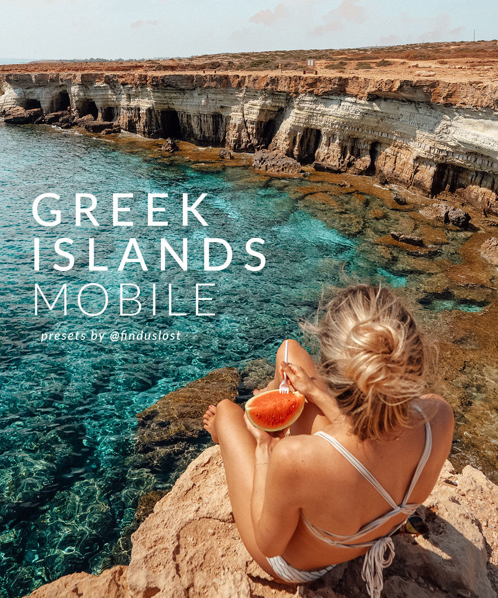 Find Us Lost Greek Islands Lightroom Mobile Preset Collection