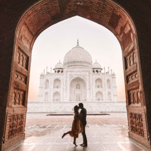 Taj Mahal in Agra, India via @finduslost