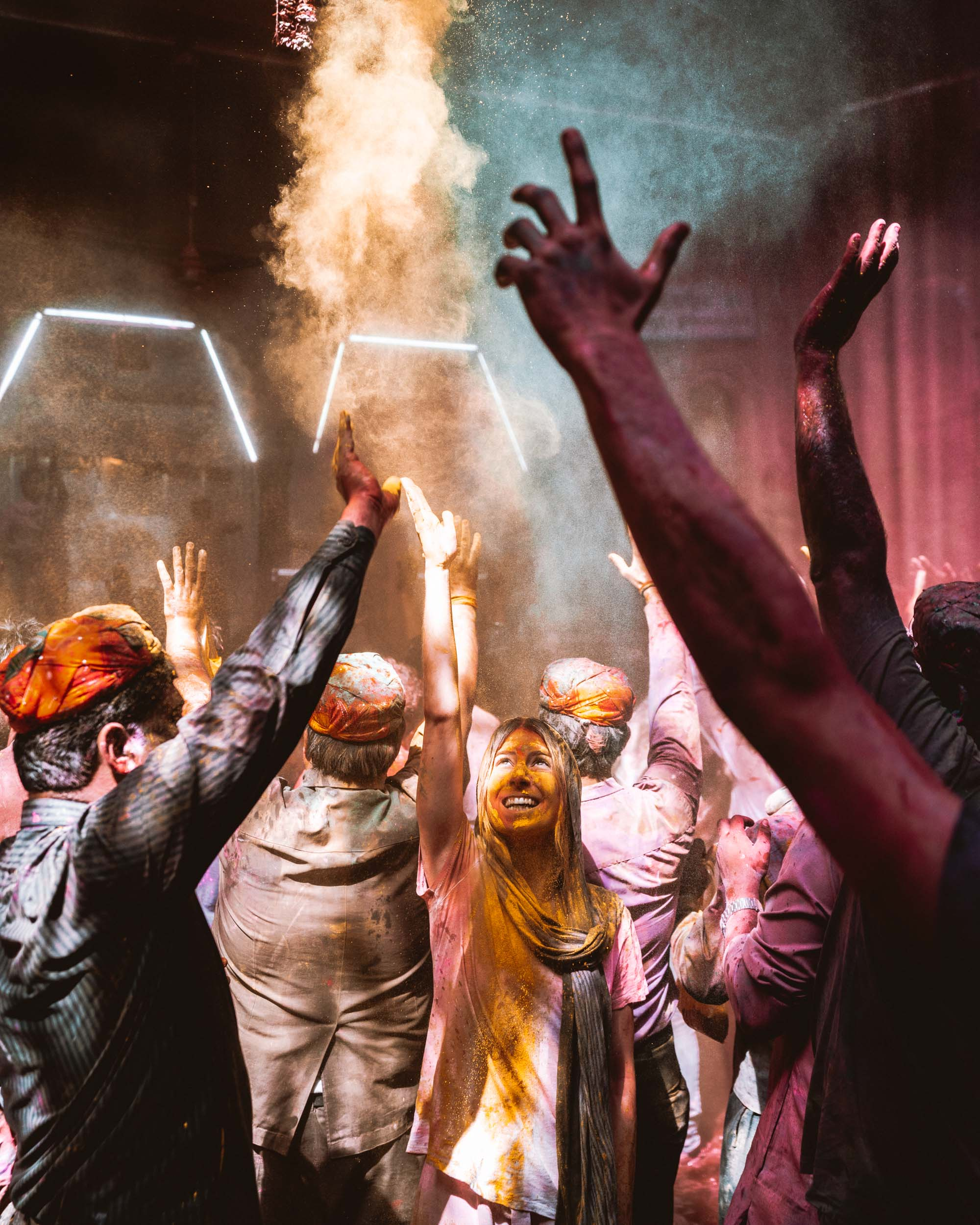 Holi in Vrindavan, India via @finduslost