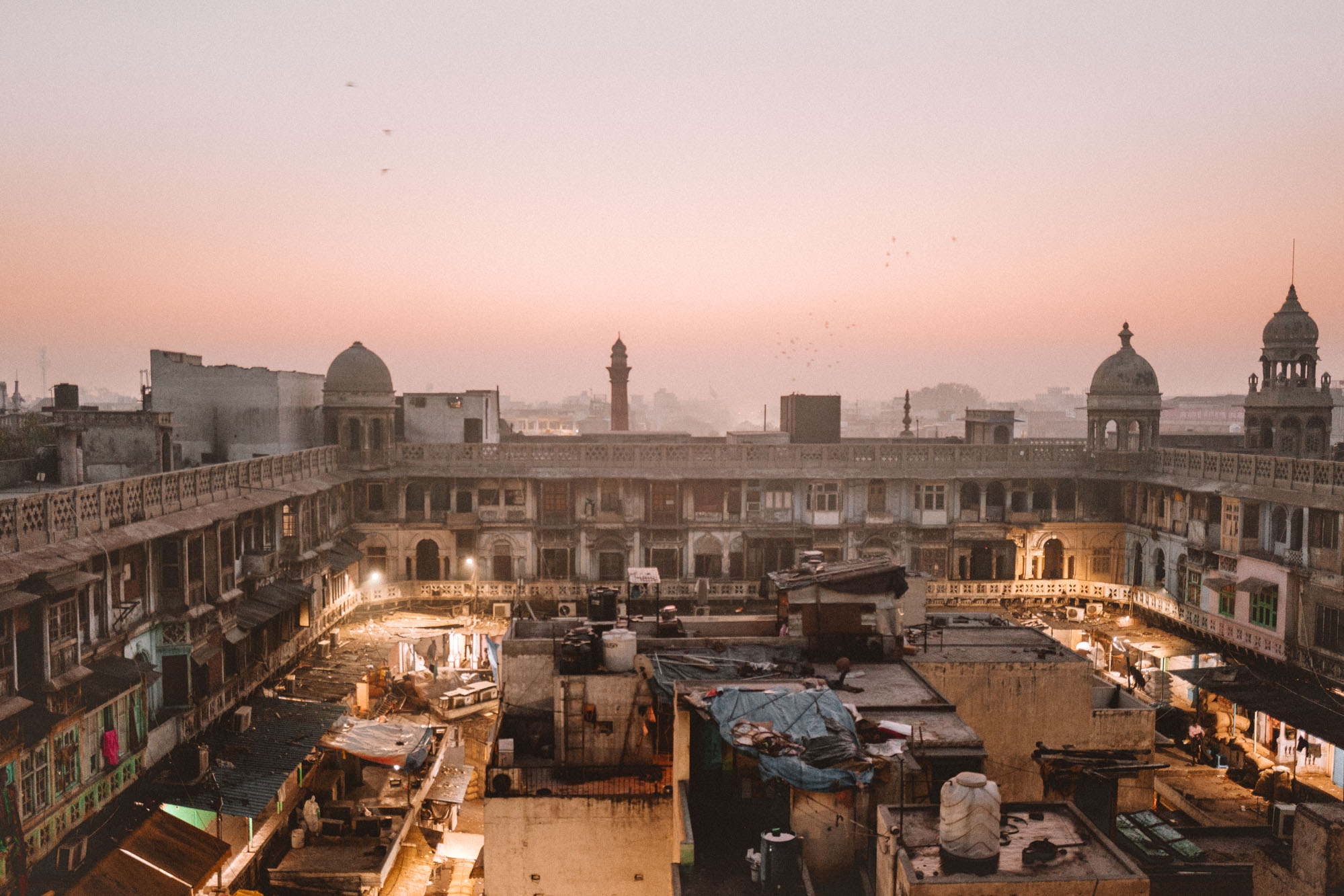 Old Delhi Spice Market Rooftop in India via @finduslost