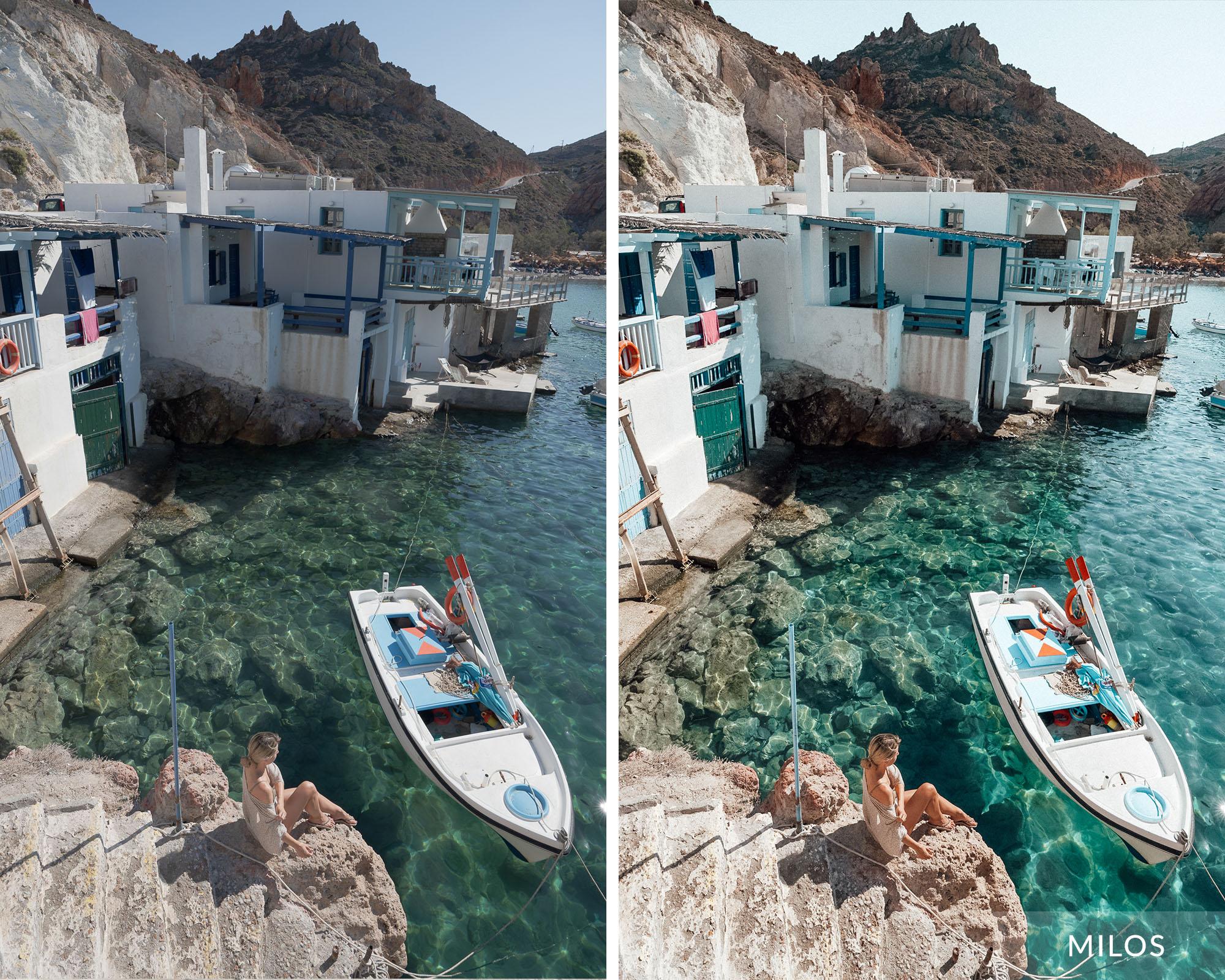 MILOS - Find Us Lost Greek Islands Lightroom Mobile Preset Collection
