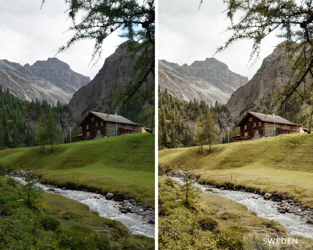 SWEDEN - Find Us Lost Europe Lightroom Mobile Preset Collection
