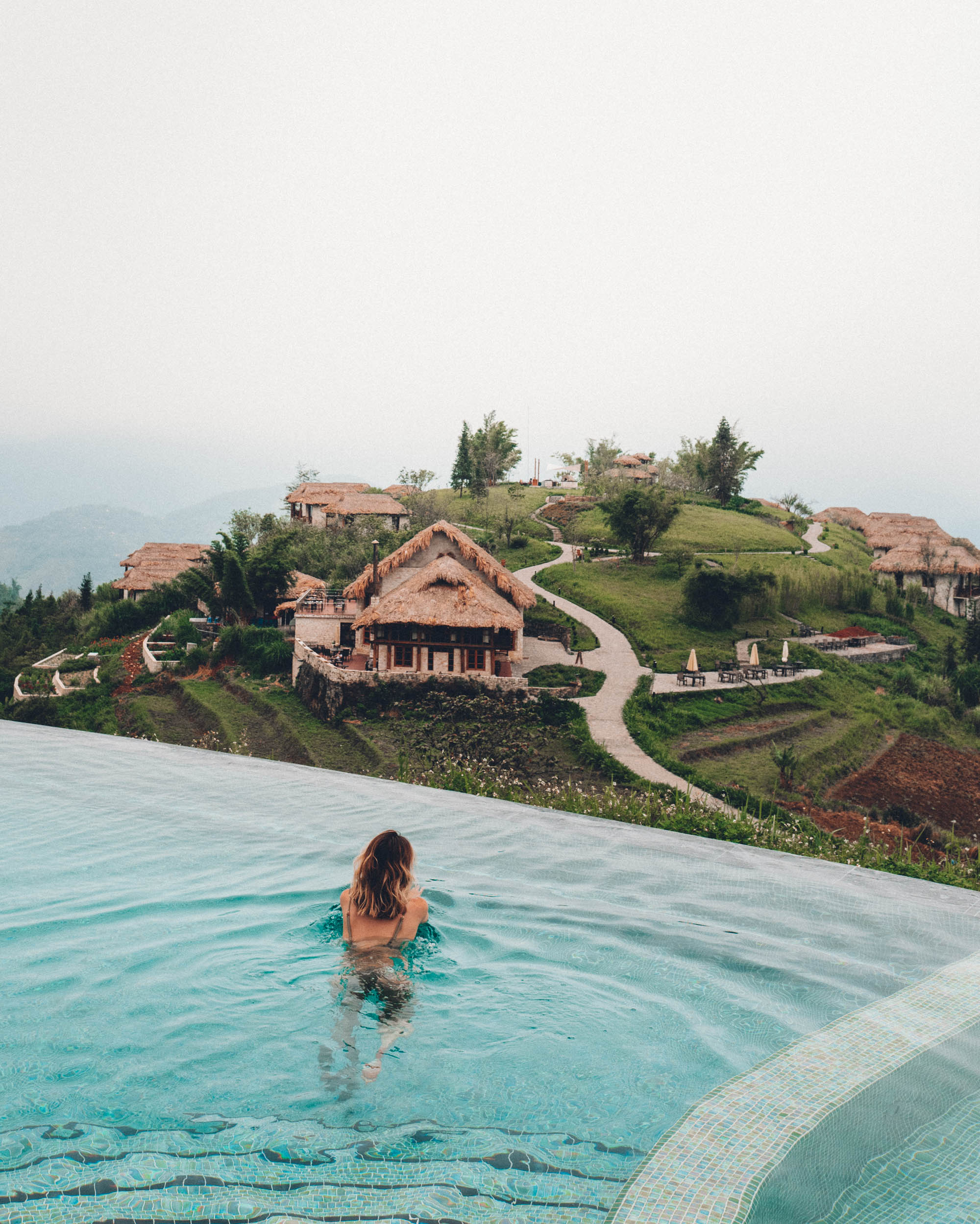 Topas Ecolodge in the rice fields of Sapa Vietnam