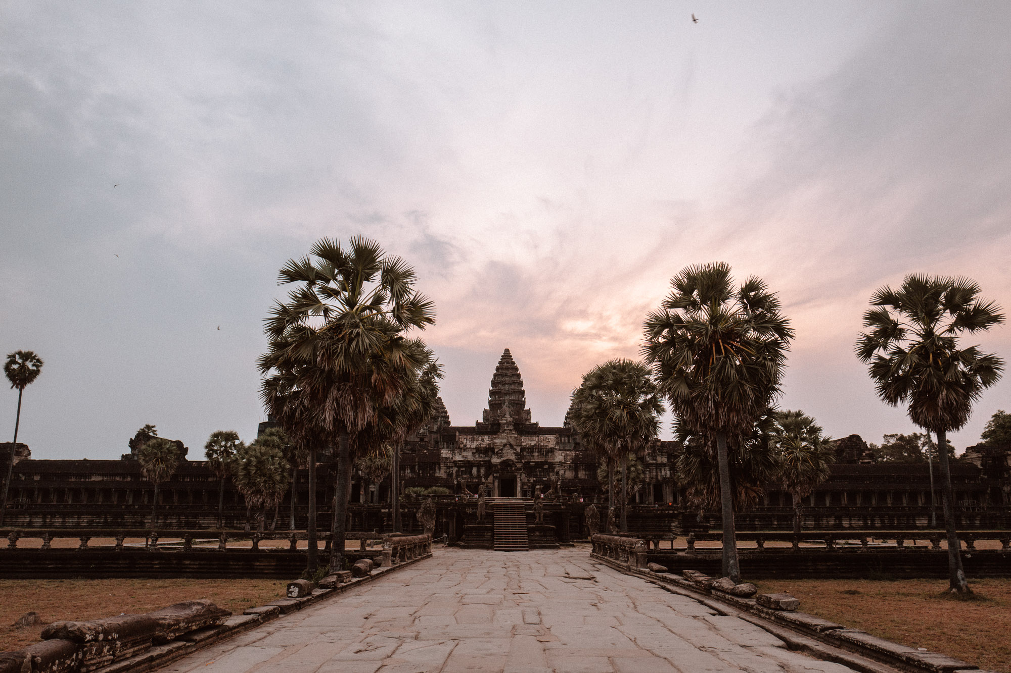 Angkor wat at sunrise in siem reap Cambodia