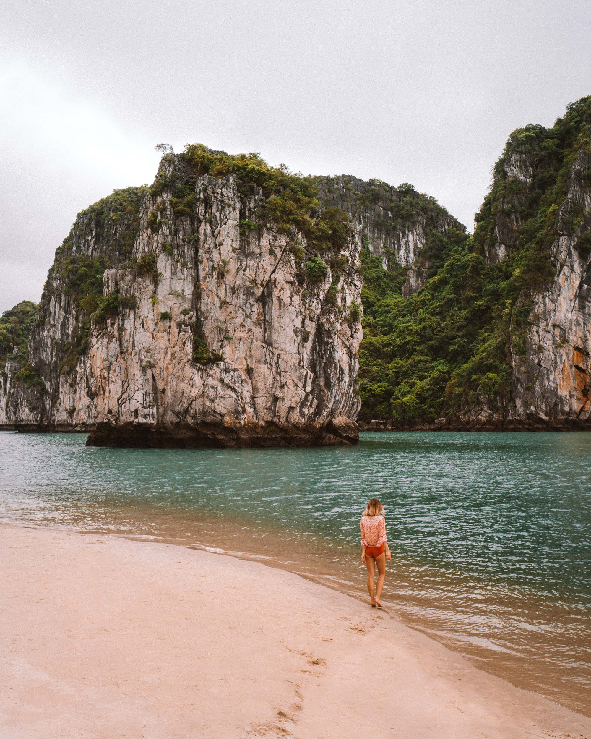 Beach in Ha Long Bay Vietnam