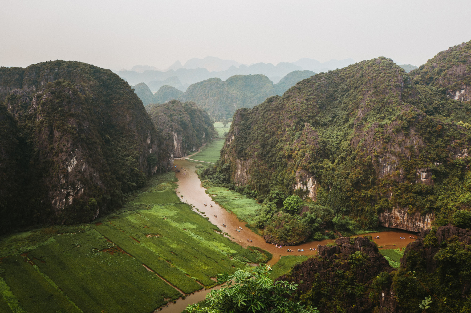 Tam Coc rice fields hike in Ninh Binh Vietnam