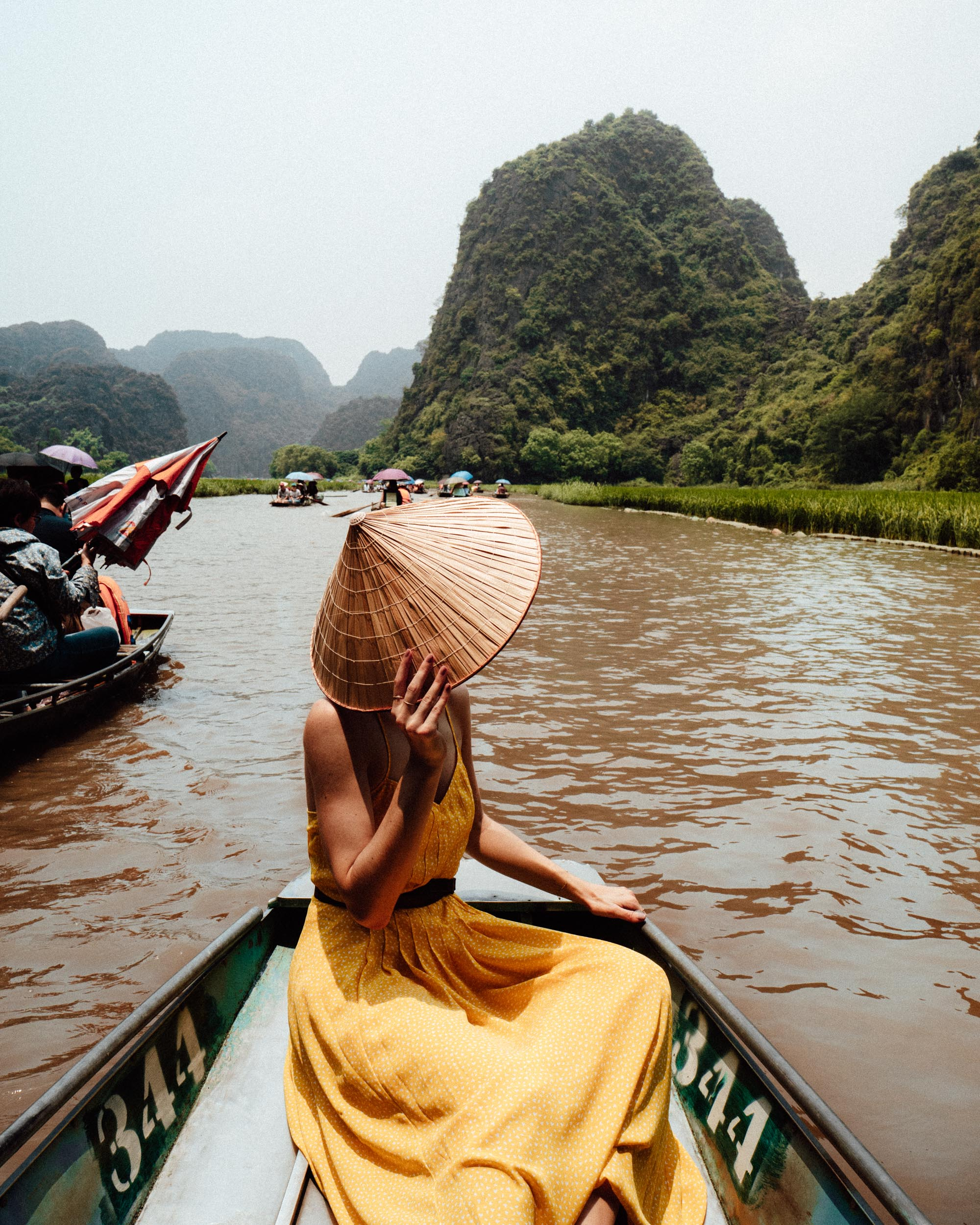 Tam Coc rice fields boat ride in Ninh Binh Vietnam