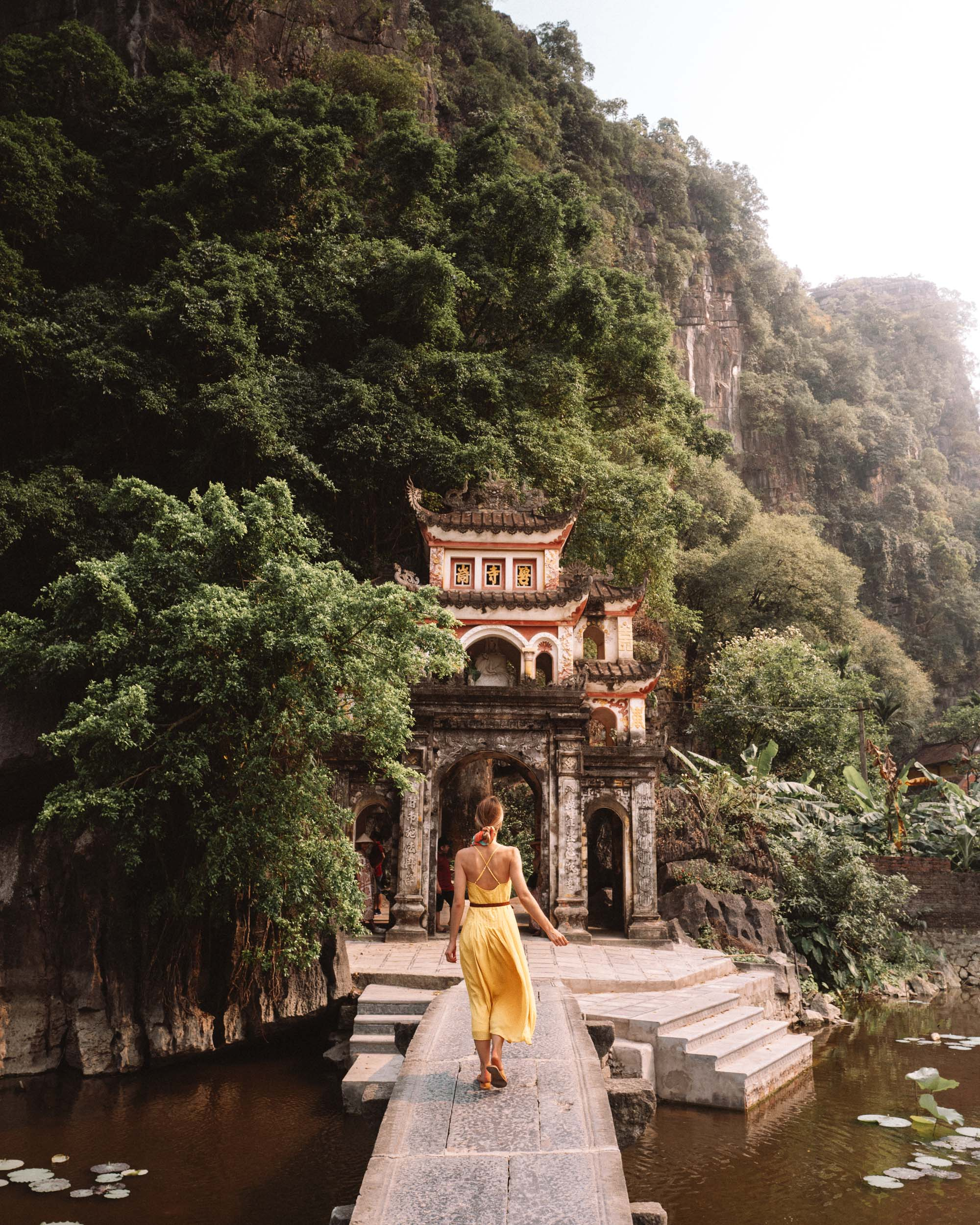 Bich Dong Pagoda in Tam Coc Vietnam