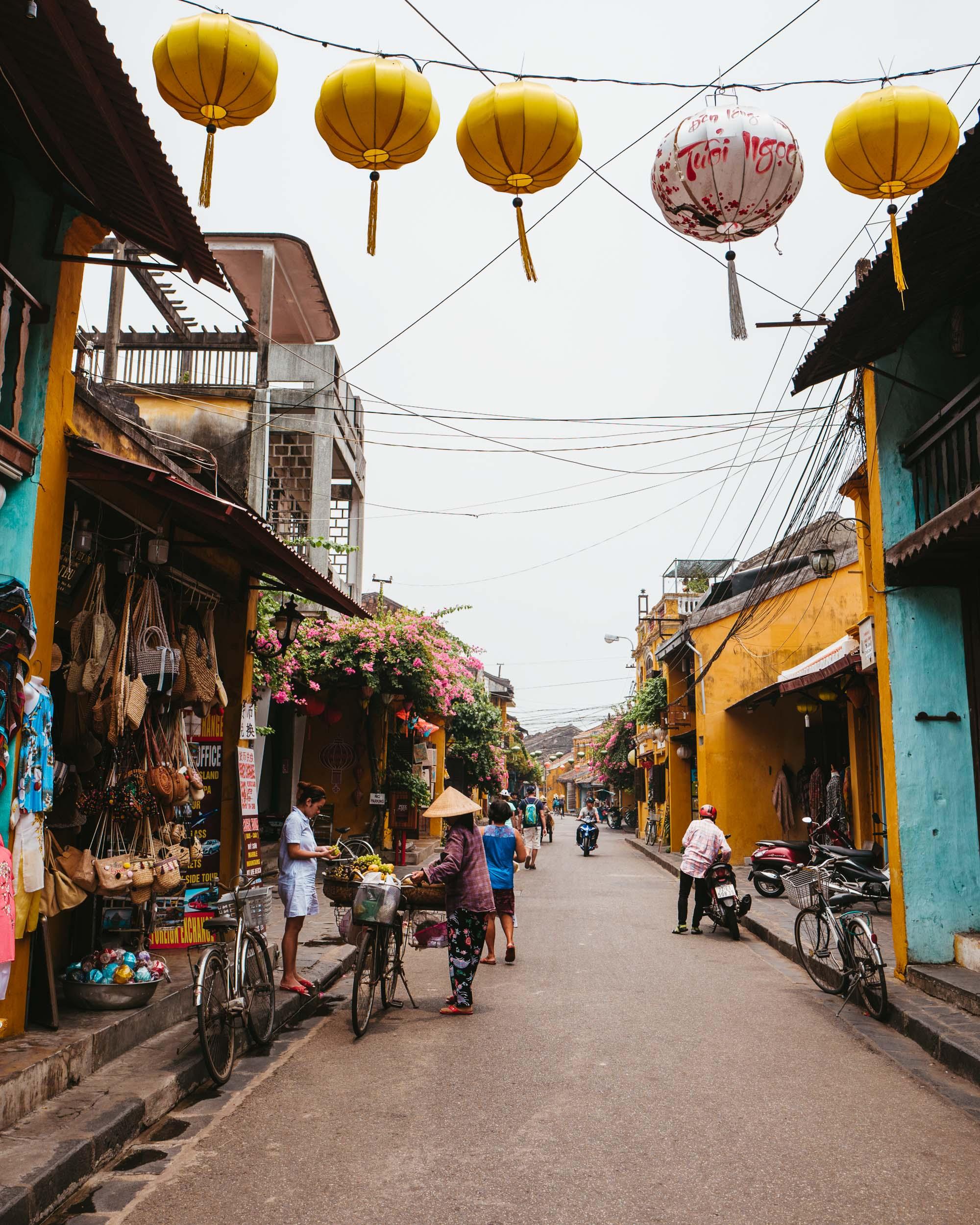 Street scenes in Hoi An Vietnam