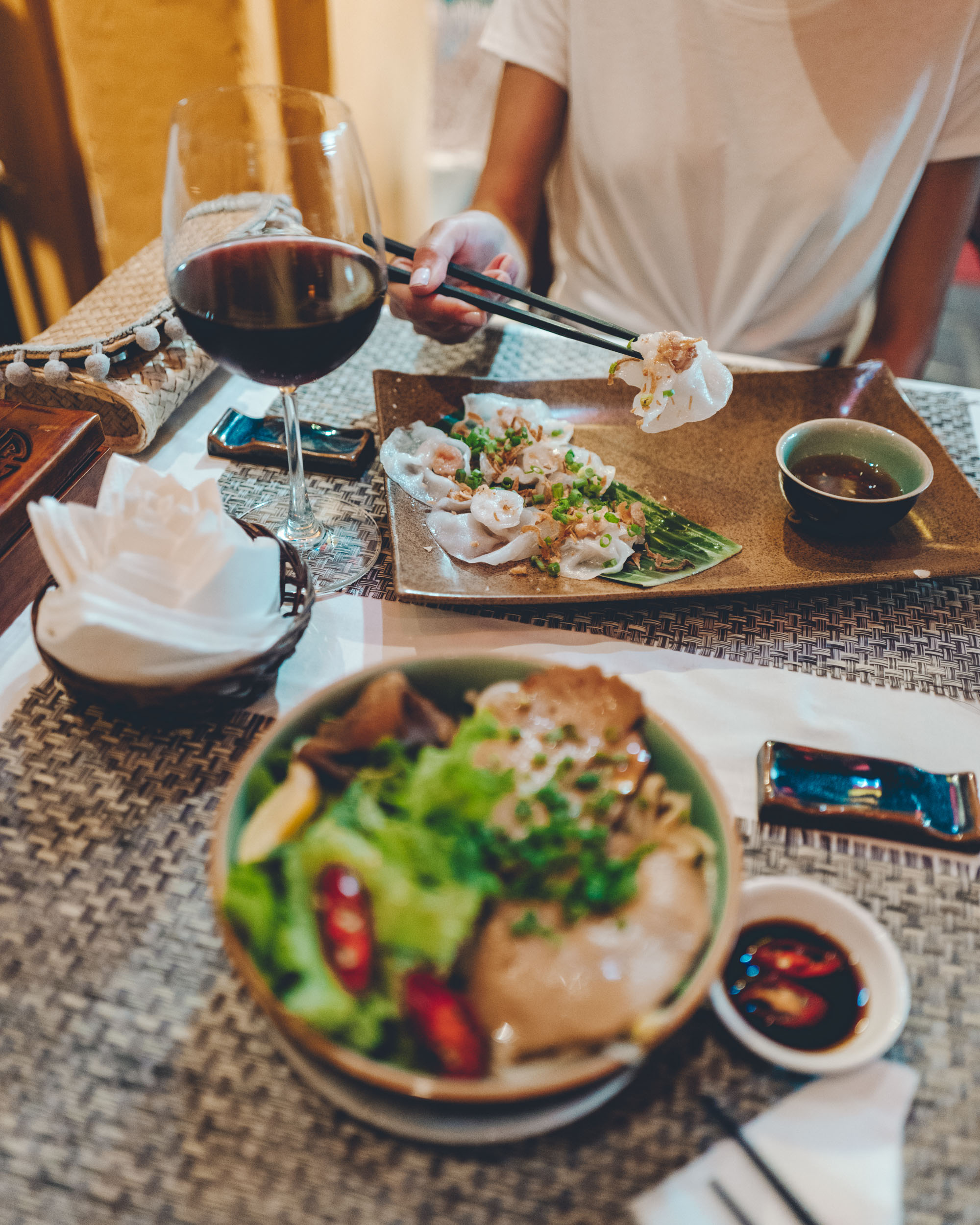 Cao Lao and rose dumplings in Hoi An Vietnam