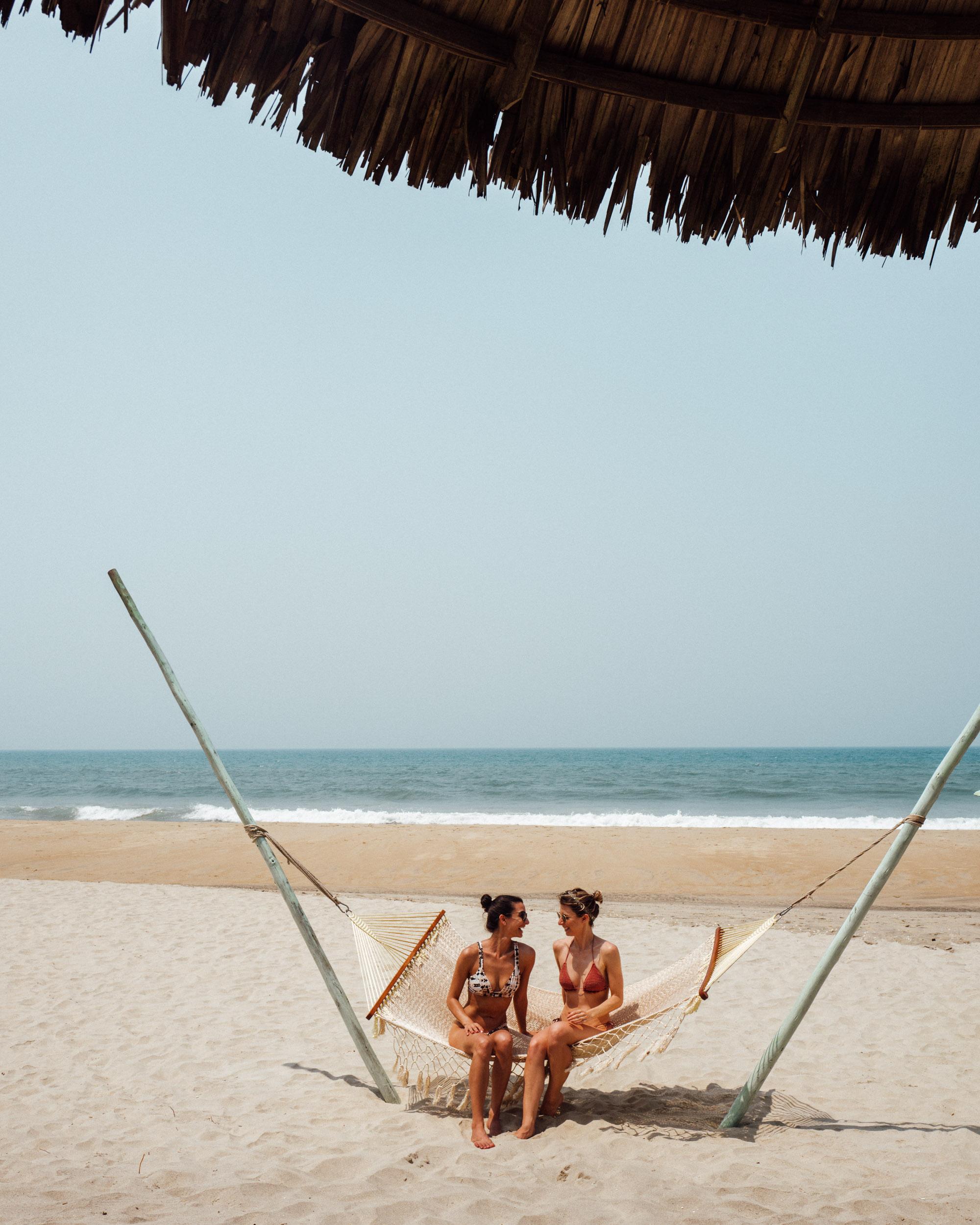 Beach hammock near Hoi An Vietnam