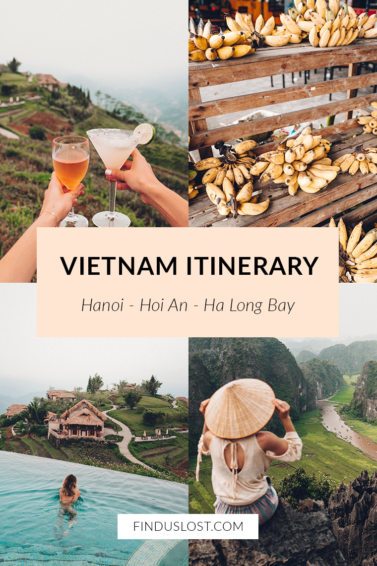 Vietnam Itinerary Hanoi Hoi An Ha Long Bay via Find Us Lost