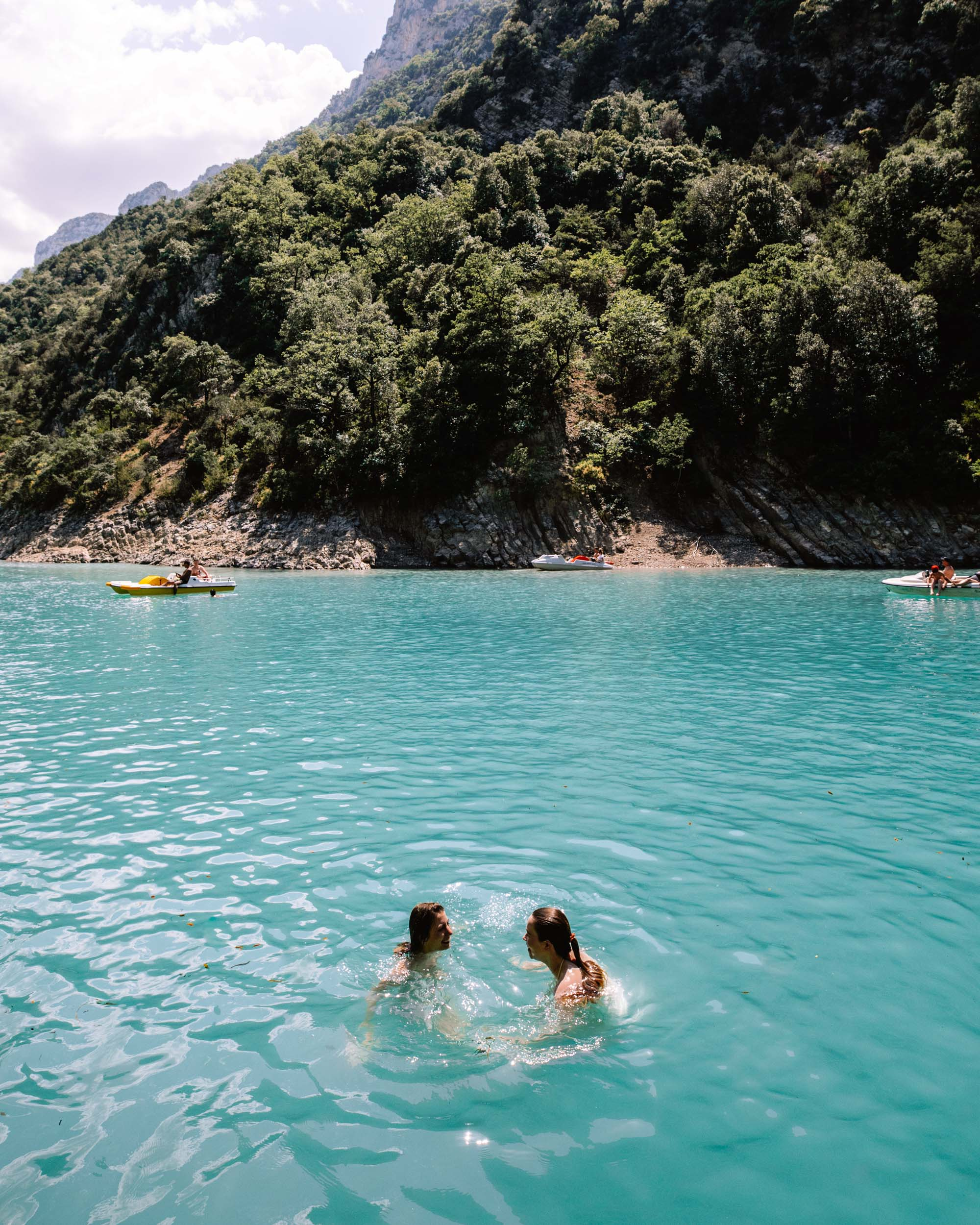Swimming at the Gorges du Verdon in the South of France via Find Us Lost