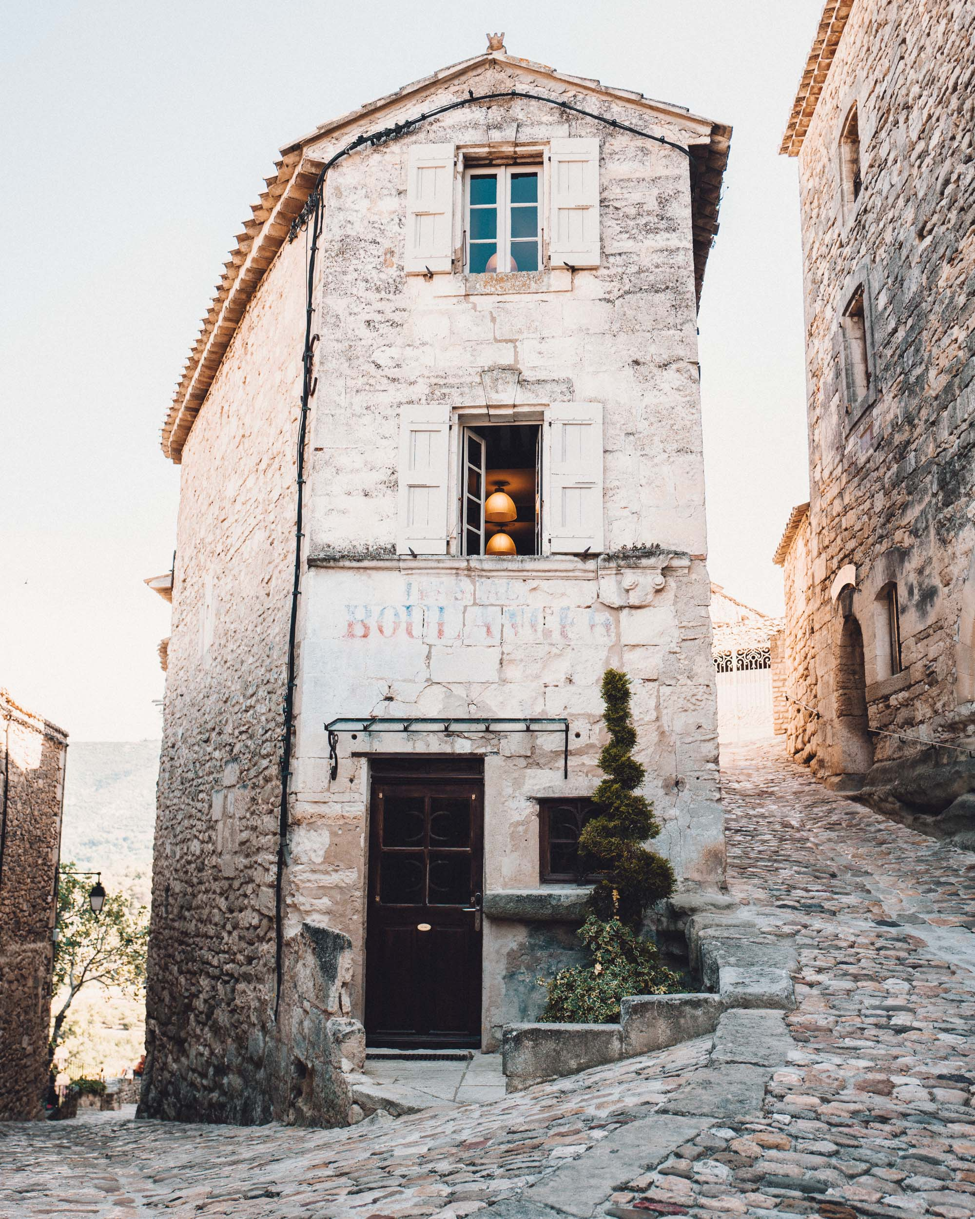 Lacoste town in Provence France