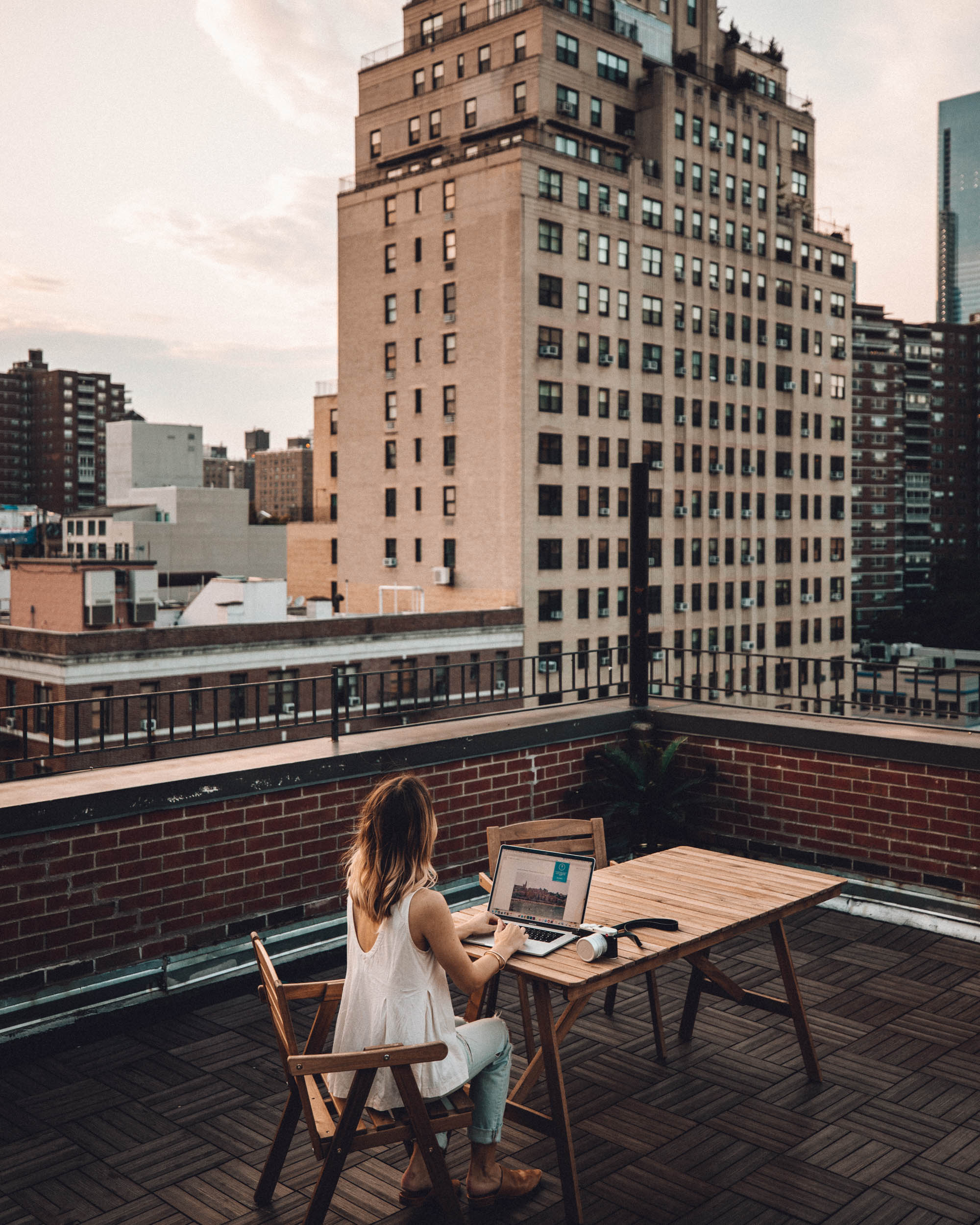 Chelsea rooftop in Manhattan New York