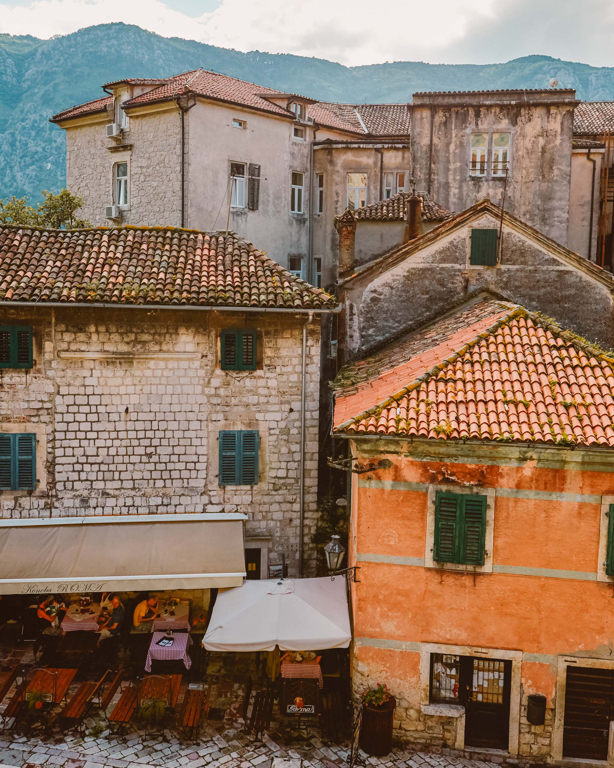 Kotor old town in Montenegro for our three month Europe road trip