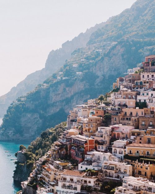 Positano views in italy for our three month Europe road trip