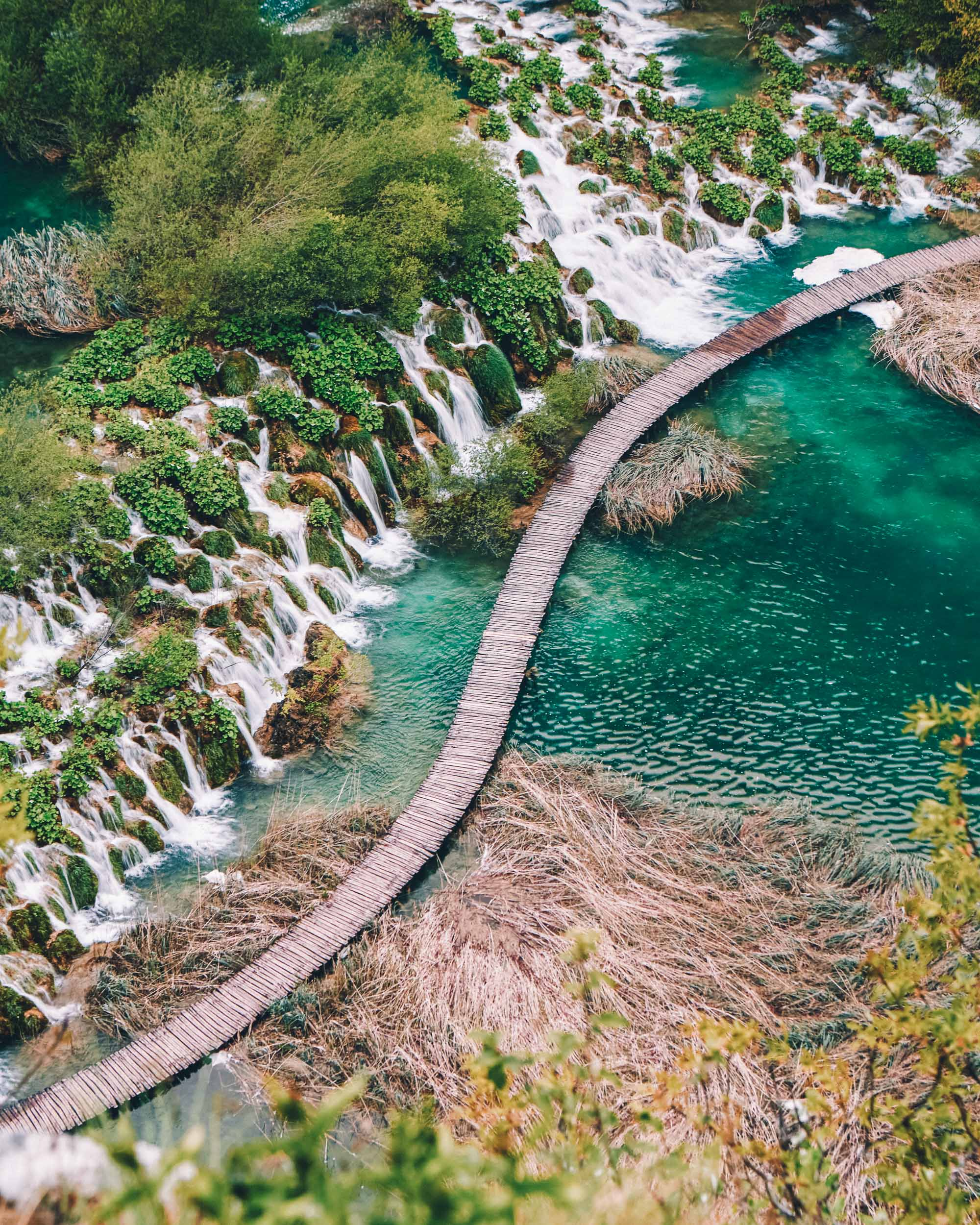 Plitvice lakes in Croatia for our three month Europe road trip