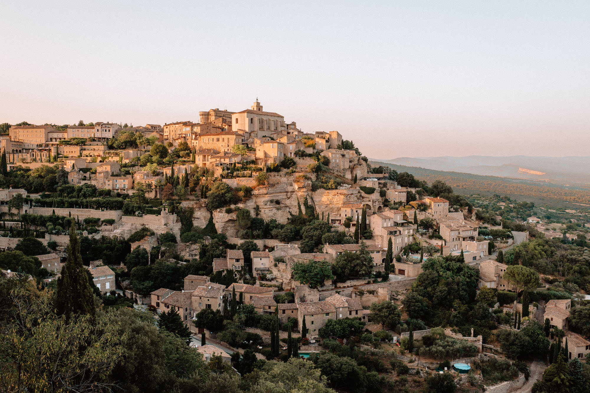 Gordes hilltop town in Luberon, Provence, South of France