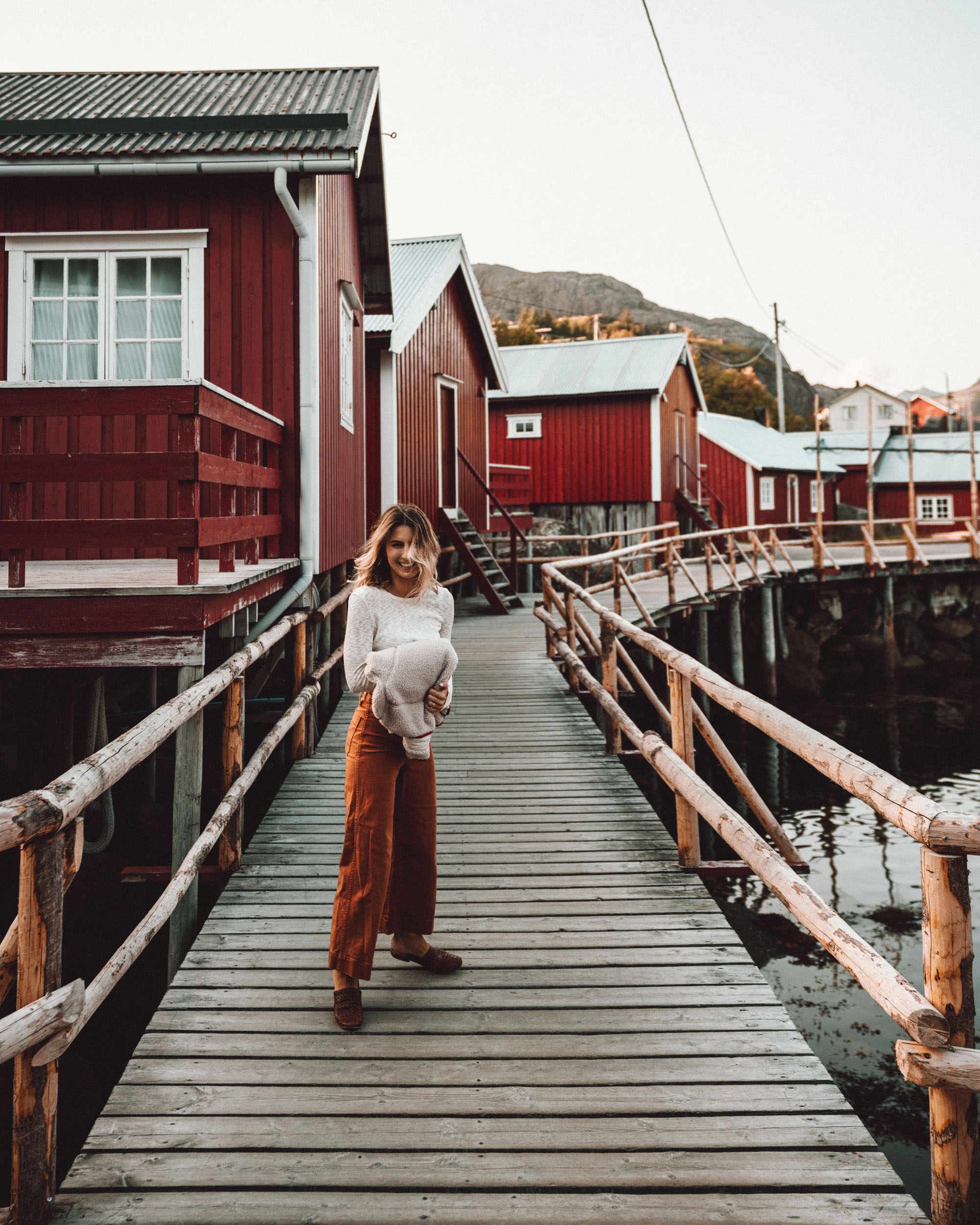 Lofoten Hotel in Norway Nusfjord Arctic Resort Traditional Fishermen Red Cabin with a Fjord View - Find Us Lost