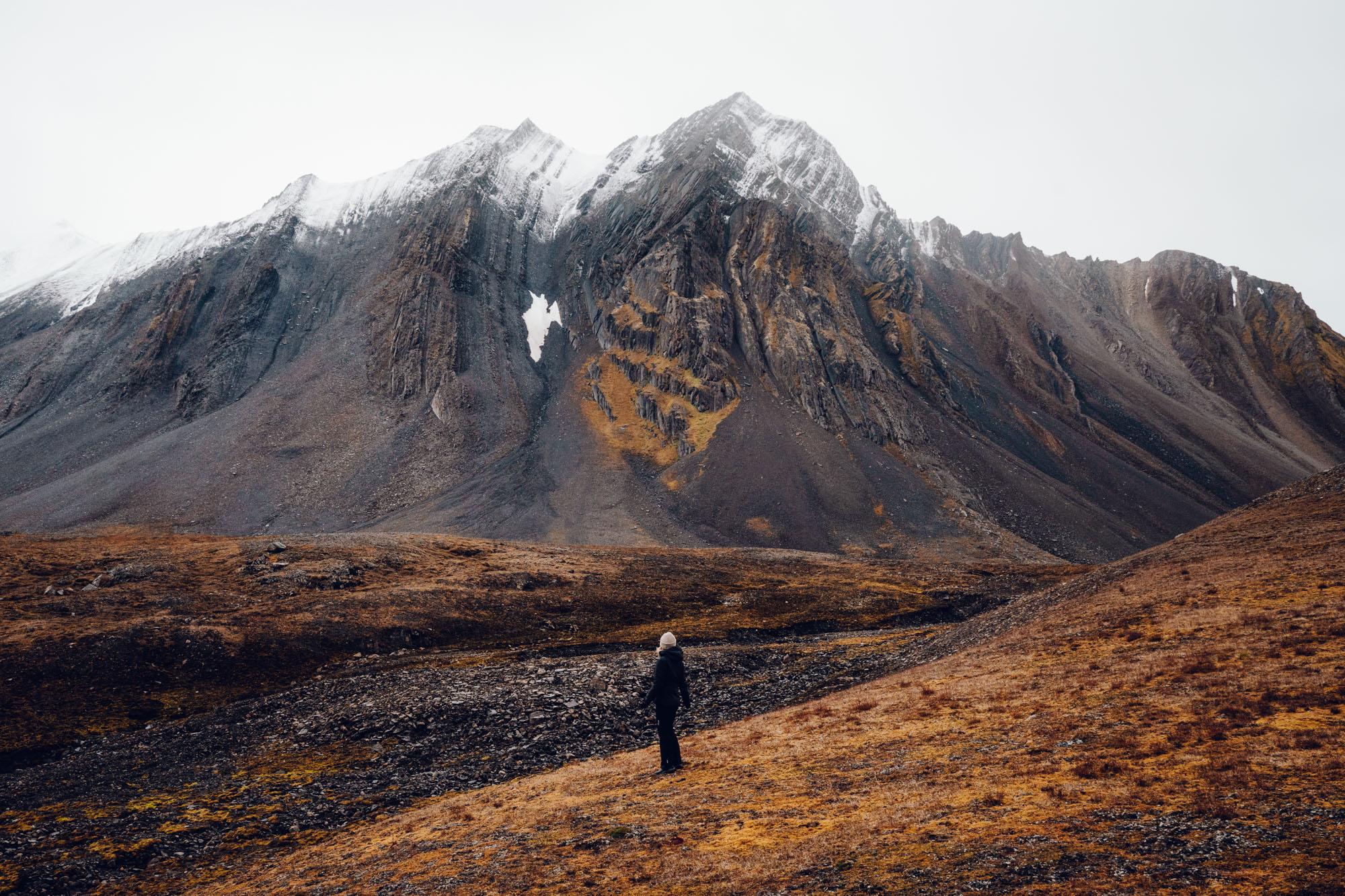 Mountains in Recherchefjorden in Svalbard, Norway
