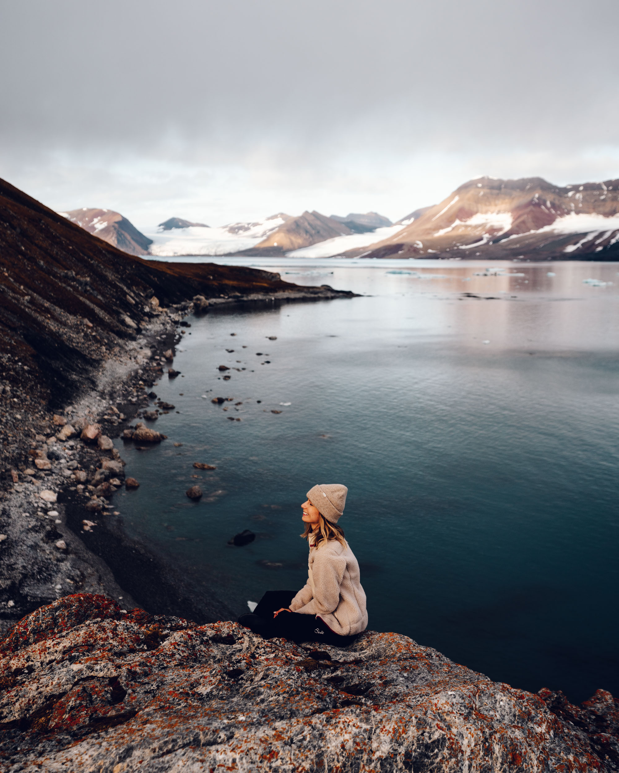 Travel blogger Selena Taylor in Svalbard, Norway