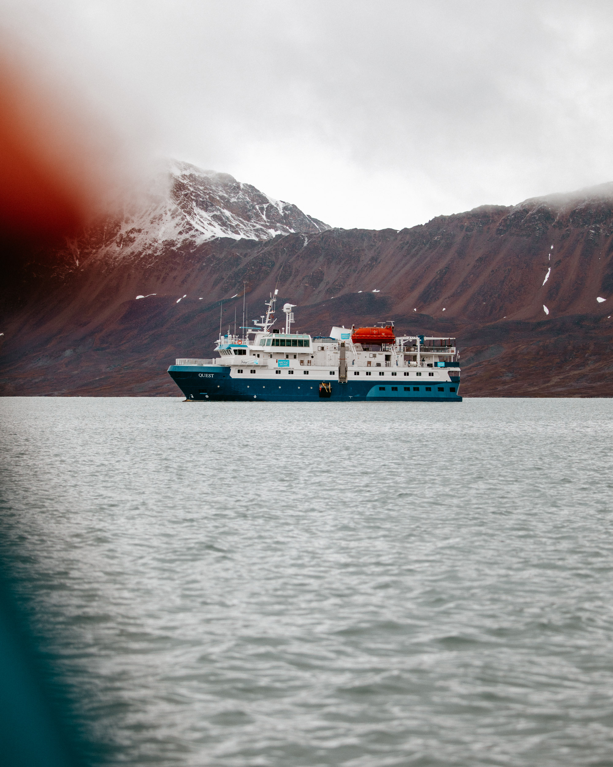 Polarquest ship in Svalbard