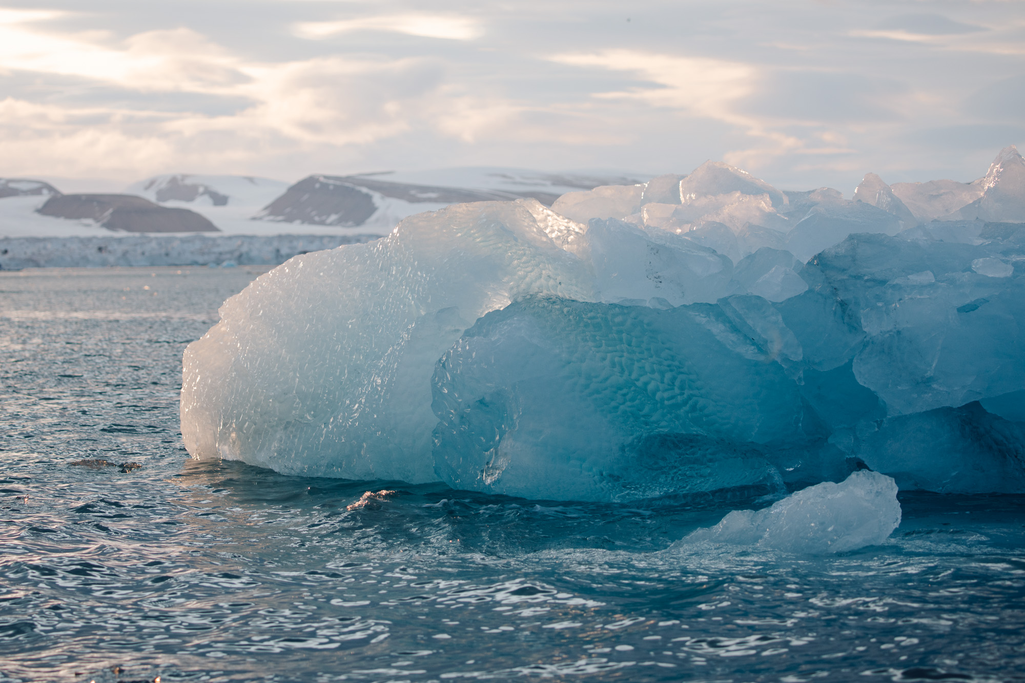 Iceberg from a glacier wall in Svalbard
