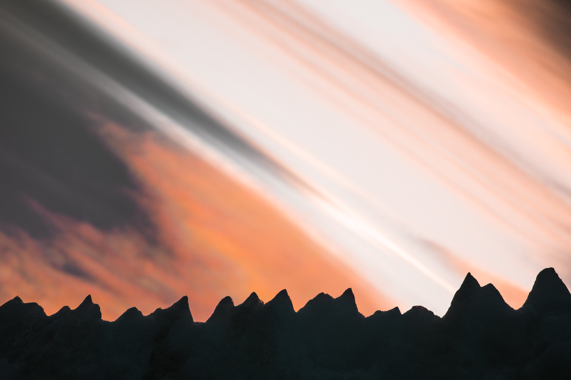 Midnight sun colors in Svalbard, Norway