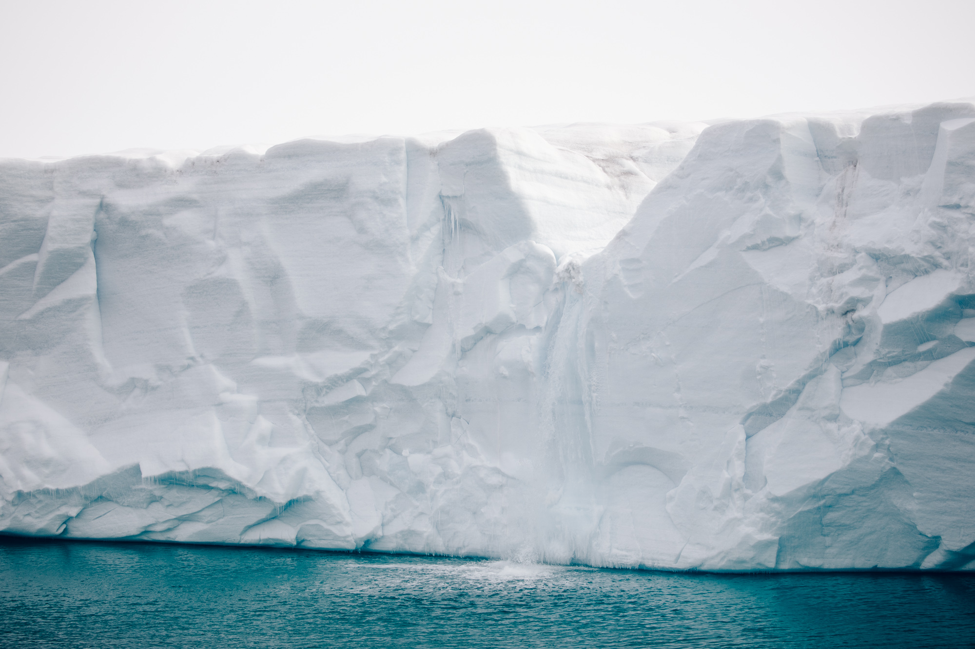 Glacier front Bråsvellbreen in Svalbard and Jan Mayen, Norway