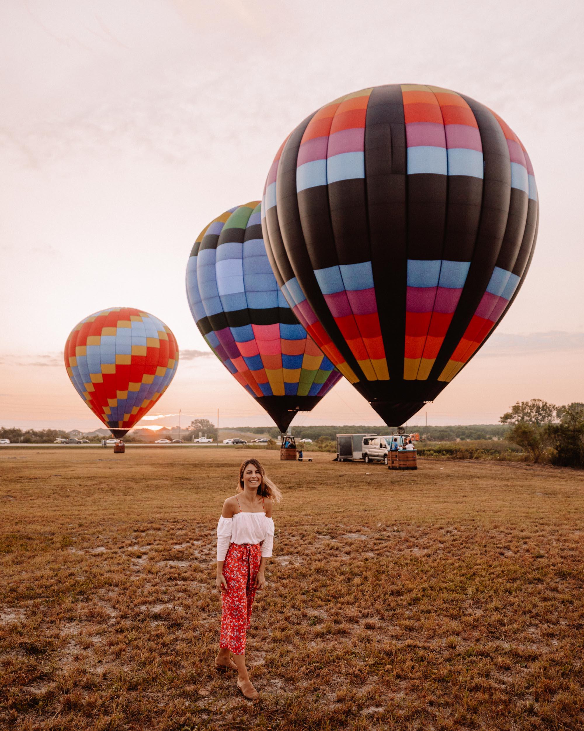 Hot air balloon ride with Orlando Balloon in Kissimmee Florida