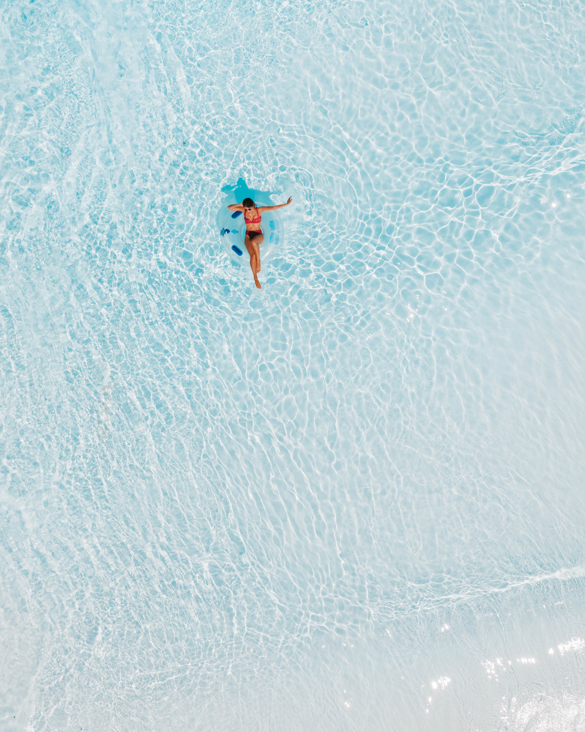 Aerial view of water park summer in Kissimee florida