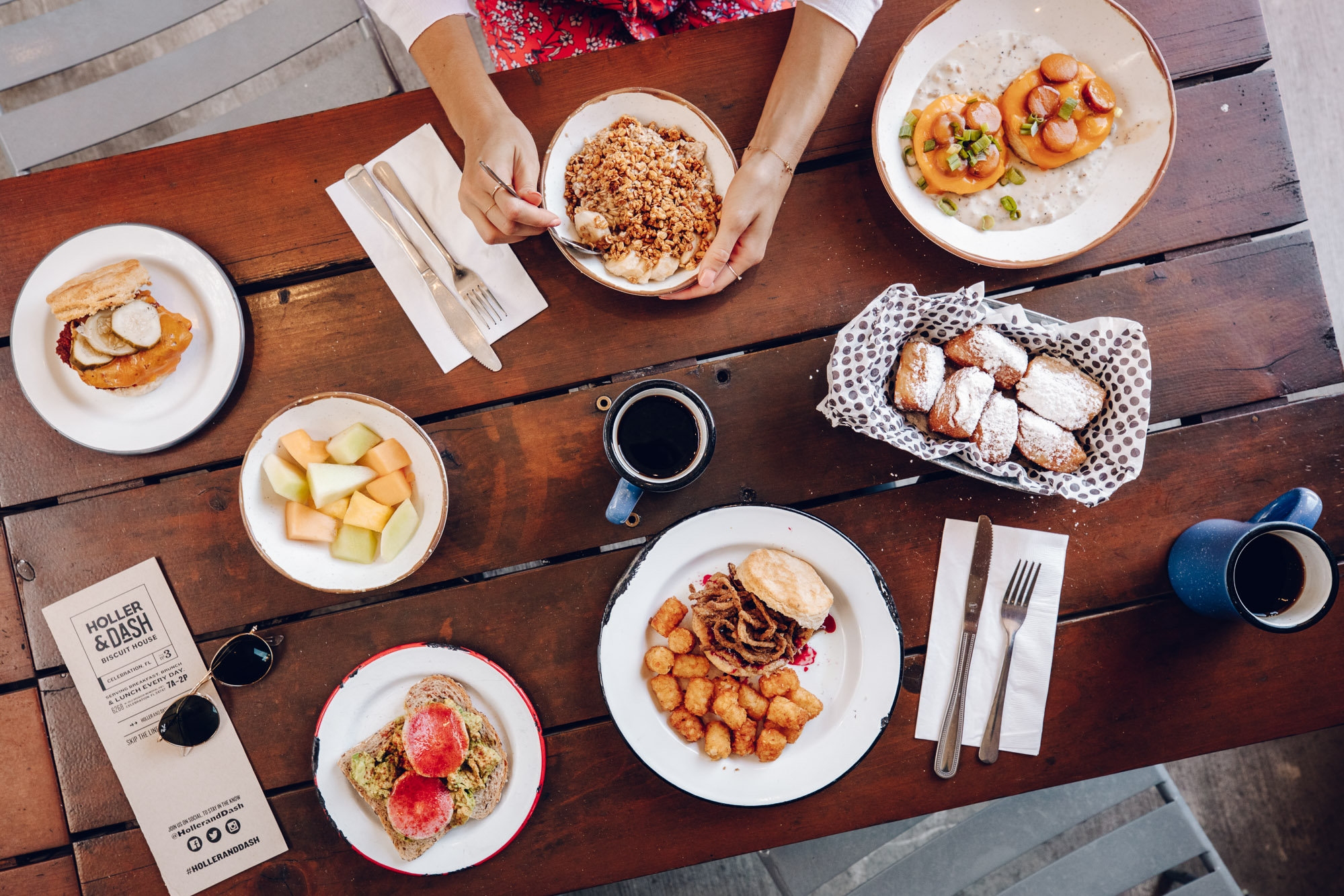 Southern brunch with biscuits at Holler and Dash in Kissimmee Florida