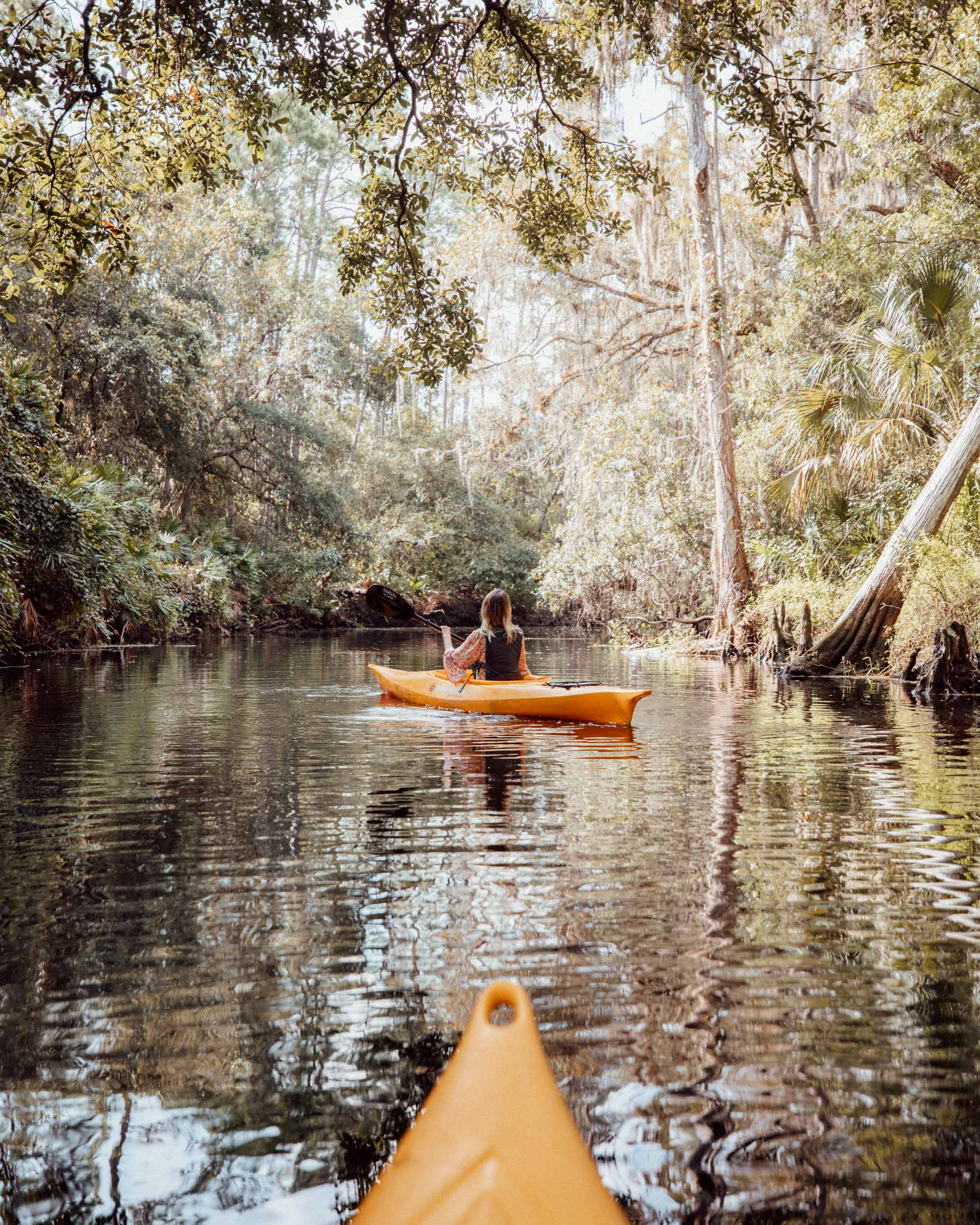 Kayaking at Shingle Creek in Kissimmee Florida
