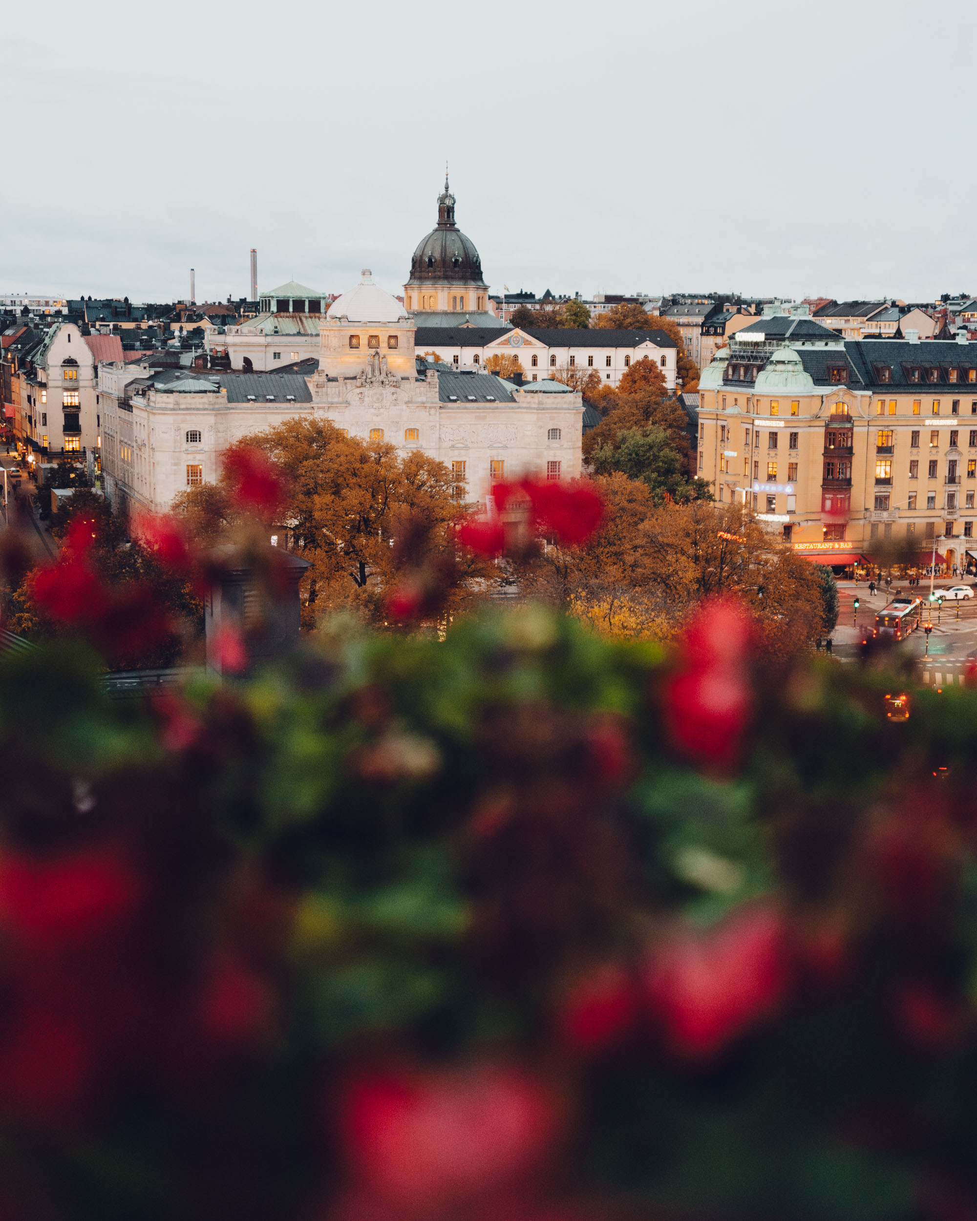 Balcony view from Bank Hotel in Stockholm, Sweden - A Small Luxury Hotel