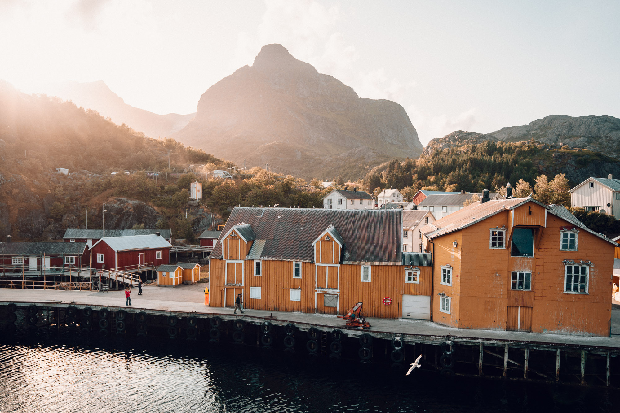 Nusfjord Arctic Resort in Nusfjord fishing town in Lofoten, Norway