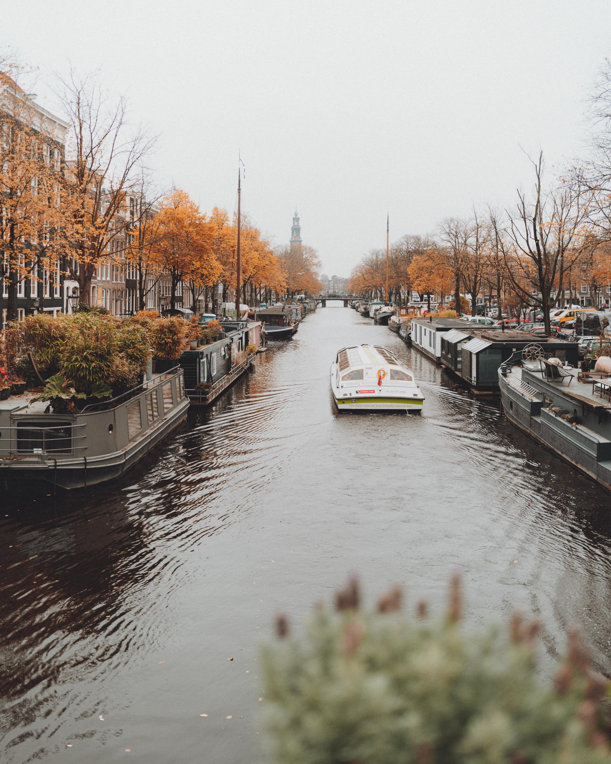 Fall in Amsterdam on the canals
