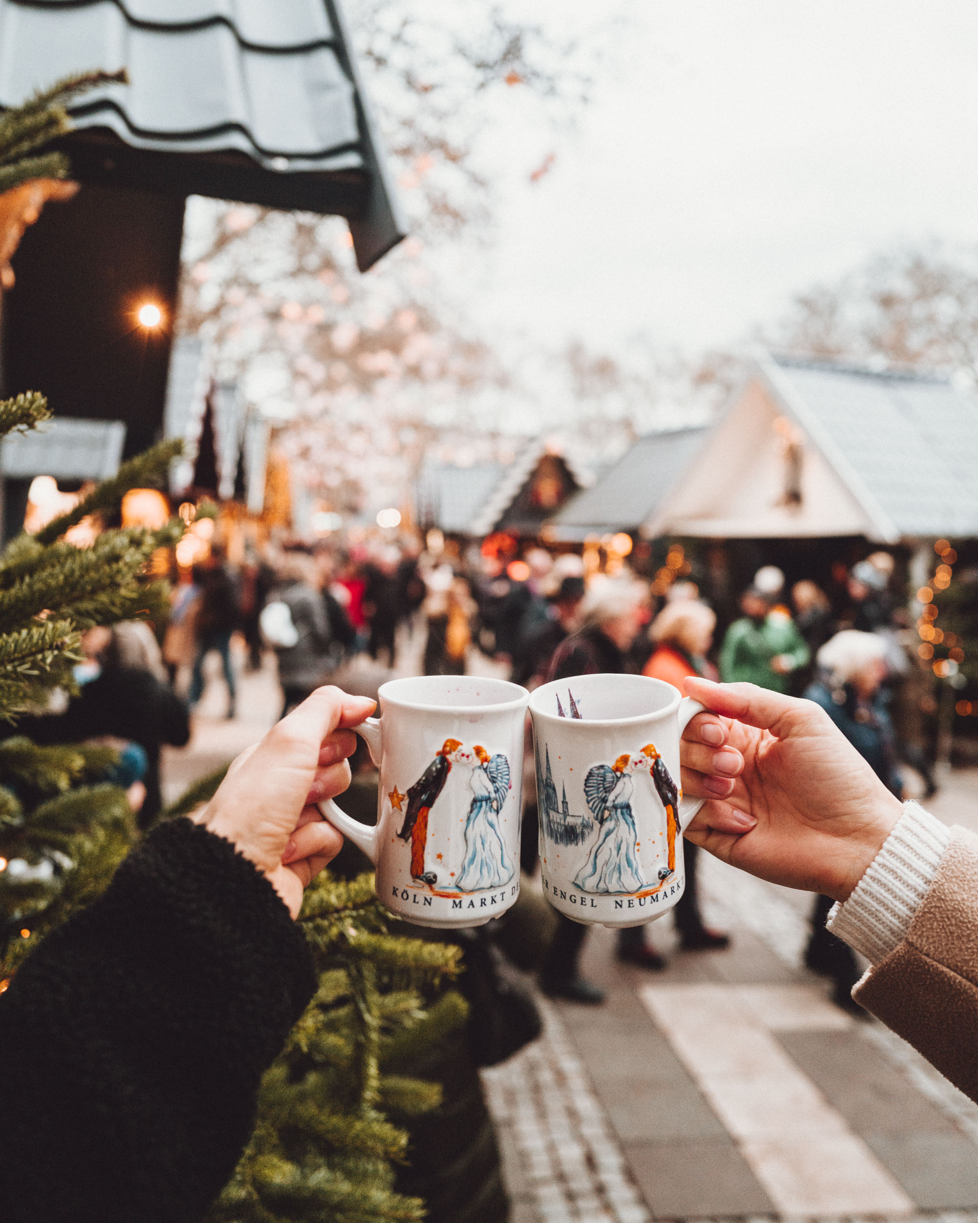 Gluhwein at Cologne Christmas Market Angels Market Germany