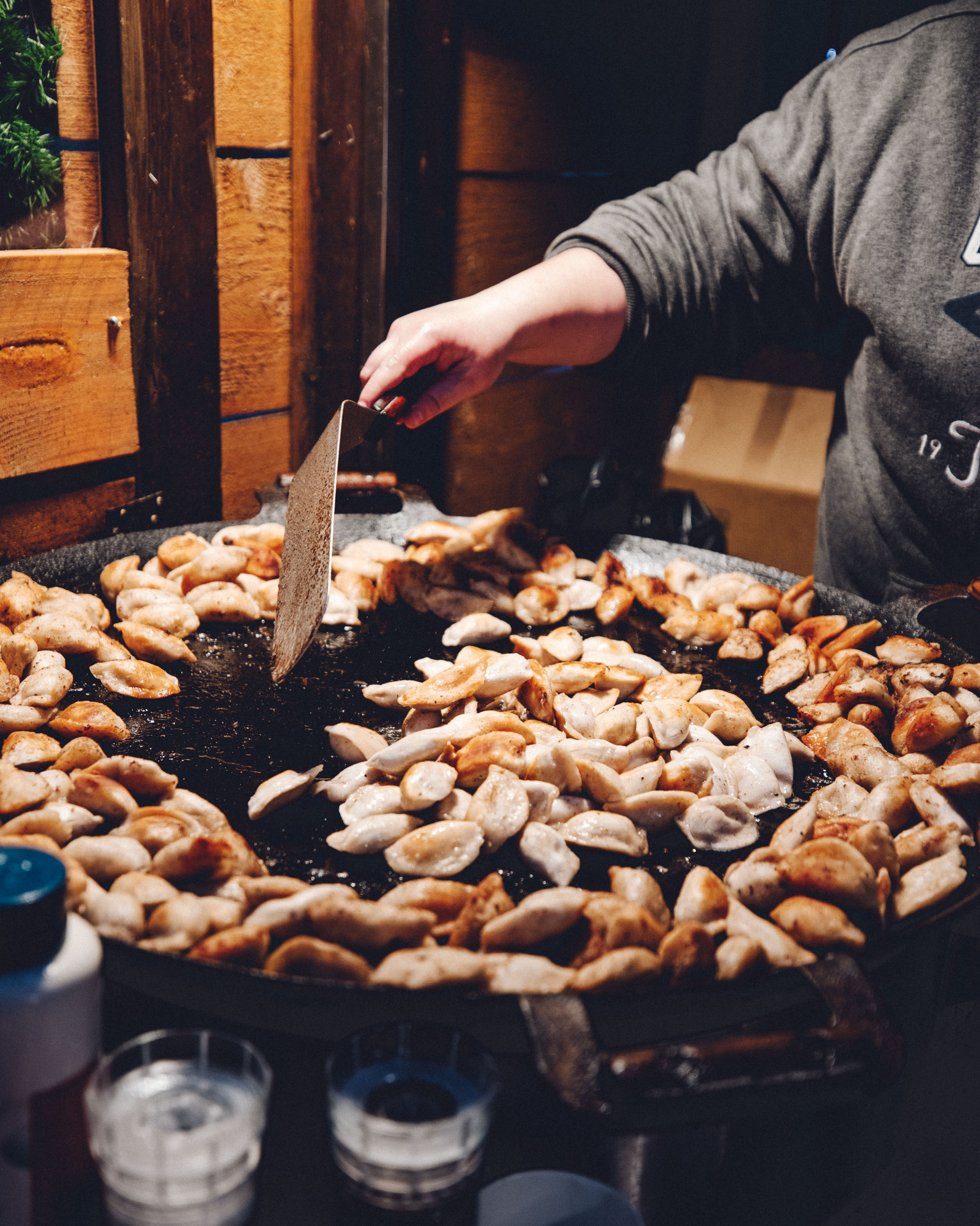 Dumplings at Tallinn Estonia during Christmas Markets in Winter via @finduslost