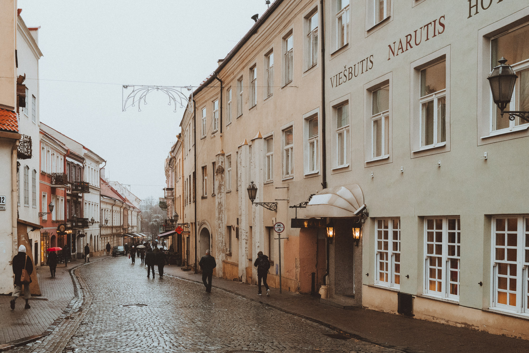 Old Town Vilnius Near Christmas Market in Winter via @finduslost