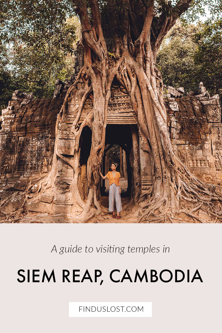 Travel Guide Siem Reap Temples in Cambodia via @finduslost