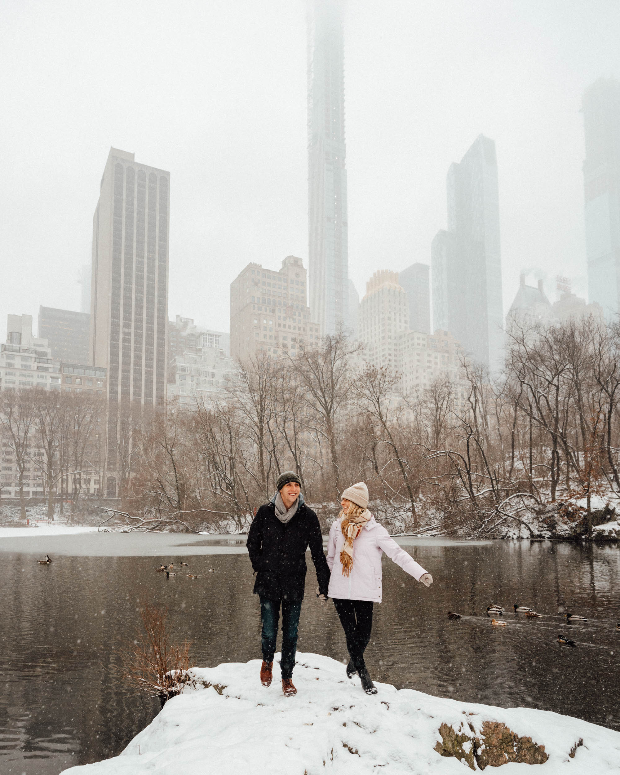 Central Park Snow Day New York City via @finduslost